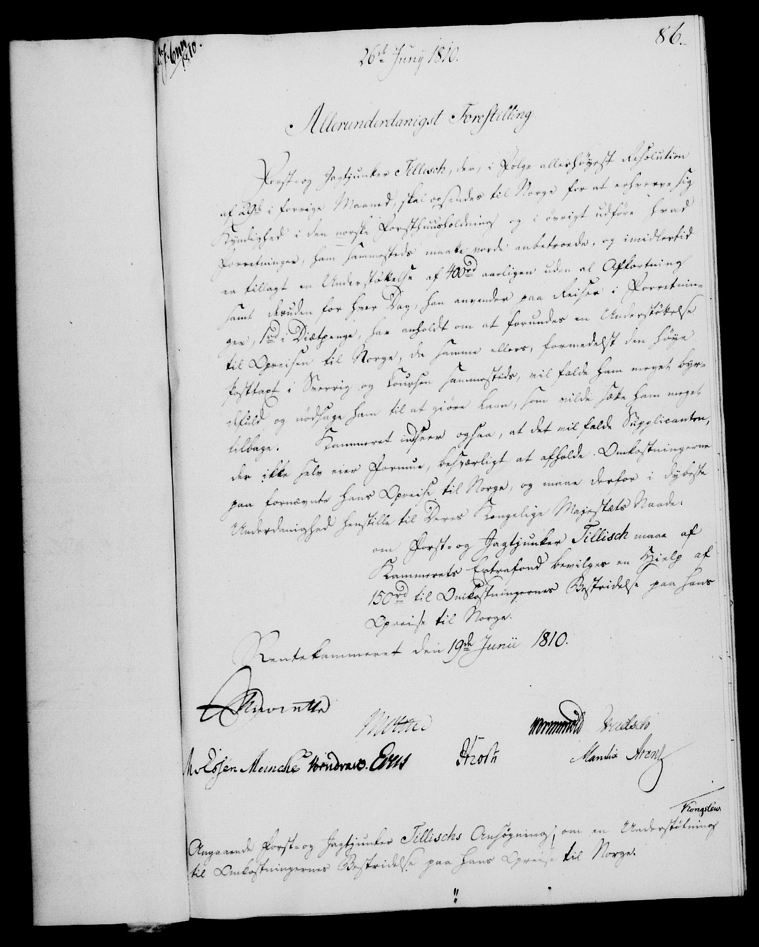 RA, Rentekammeret, Kammerkanselliet, G/Gf/Gfa/L0092: Norsk relasjons- og resolusjonsprotokoll (merket RK 52.92), 1810, s. 323