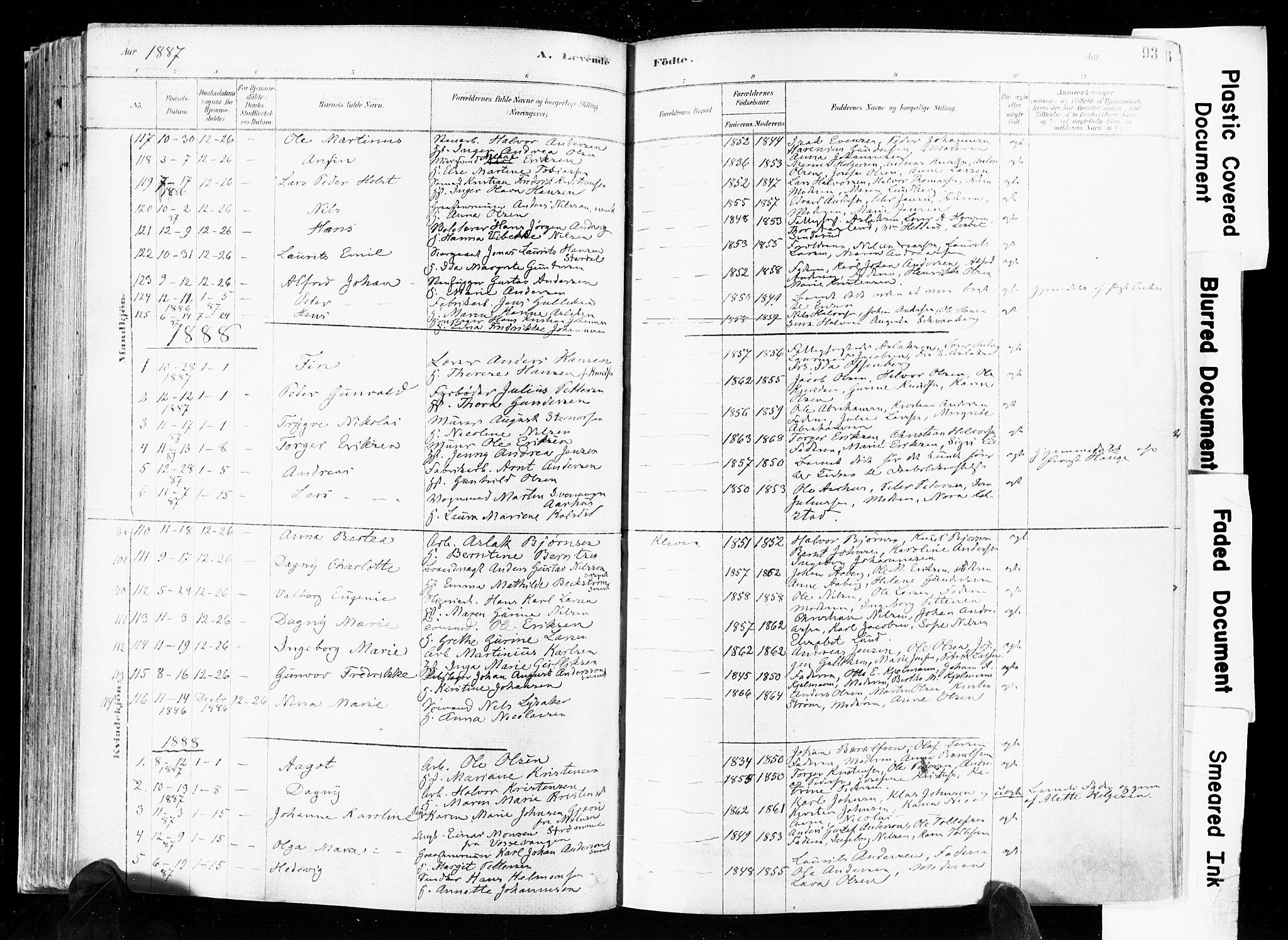 SAKO, Skien kirkebøker, F/Fa/L0009: Ministerialbok nr. 9, 1878-1890, s. 93