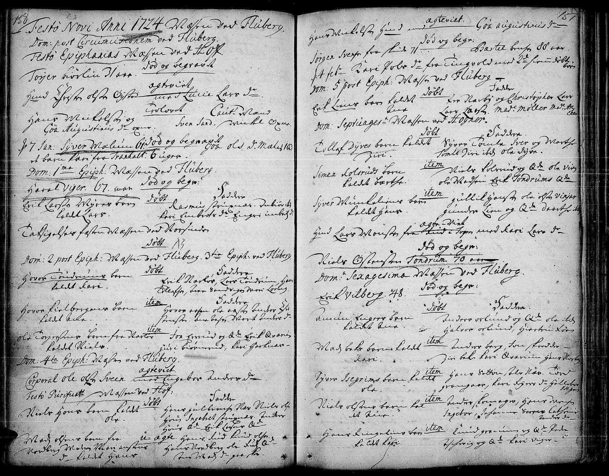 SAH, Land prestekontor, Ministerialbok nr. 1, 1708-1732, s. 150-151