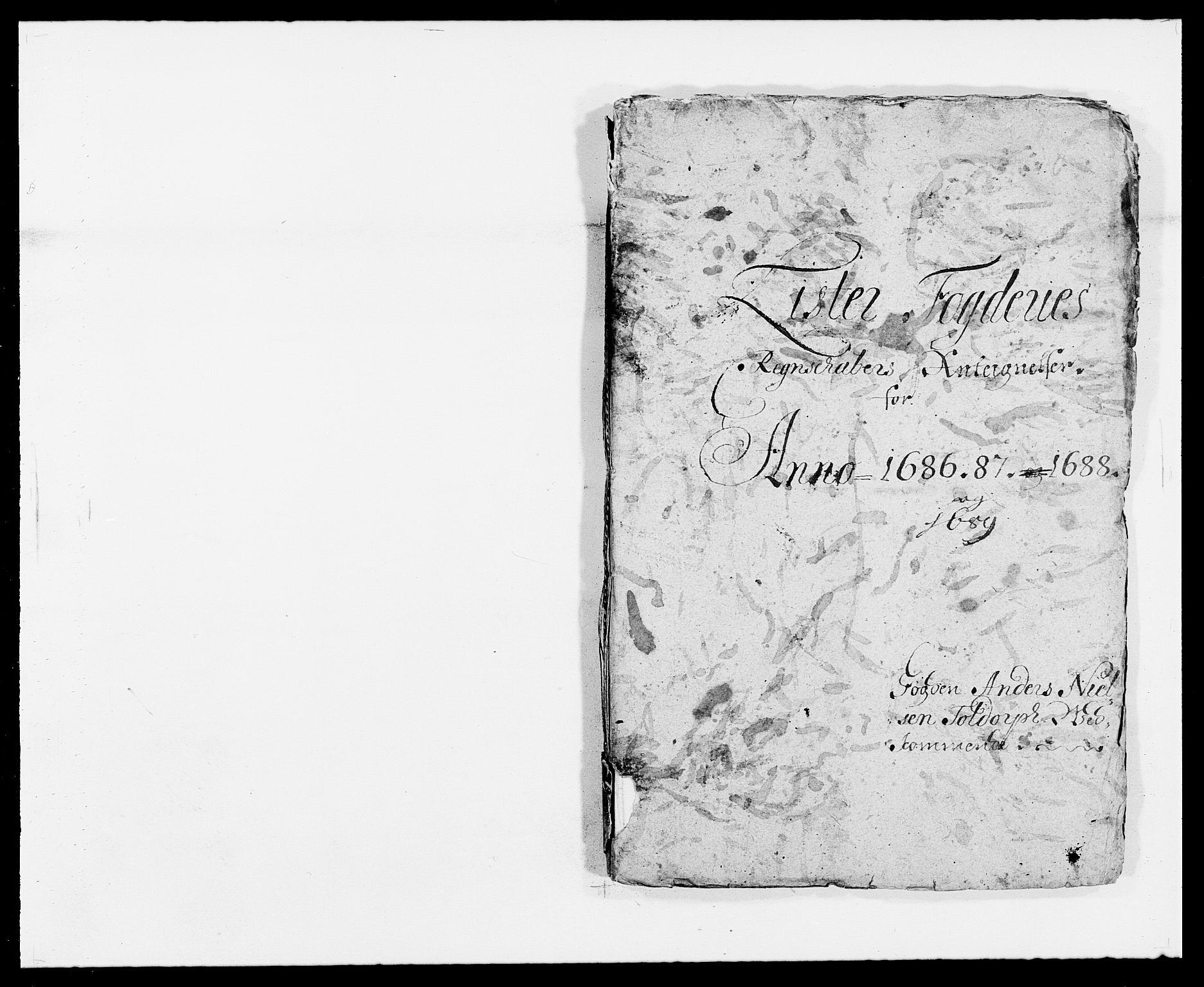 RA, Rentekammeret inntil 1814, Reviderte regnskaper, Fogderegnskap, R41/L2535: Fogderegnskap Lista, 1686-1689, s. 115