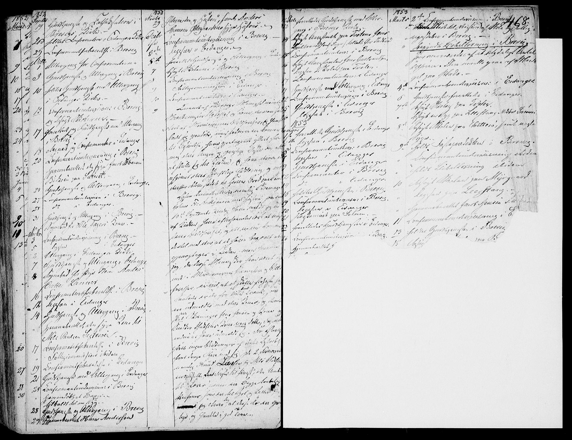 SAKO, Eidanger kirkebøker, F/Fa/L0008: Ministerialbok nr. 8, 1831-1858, s. 468