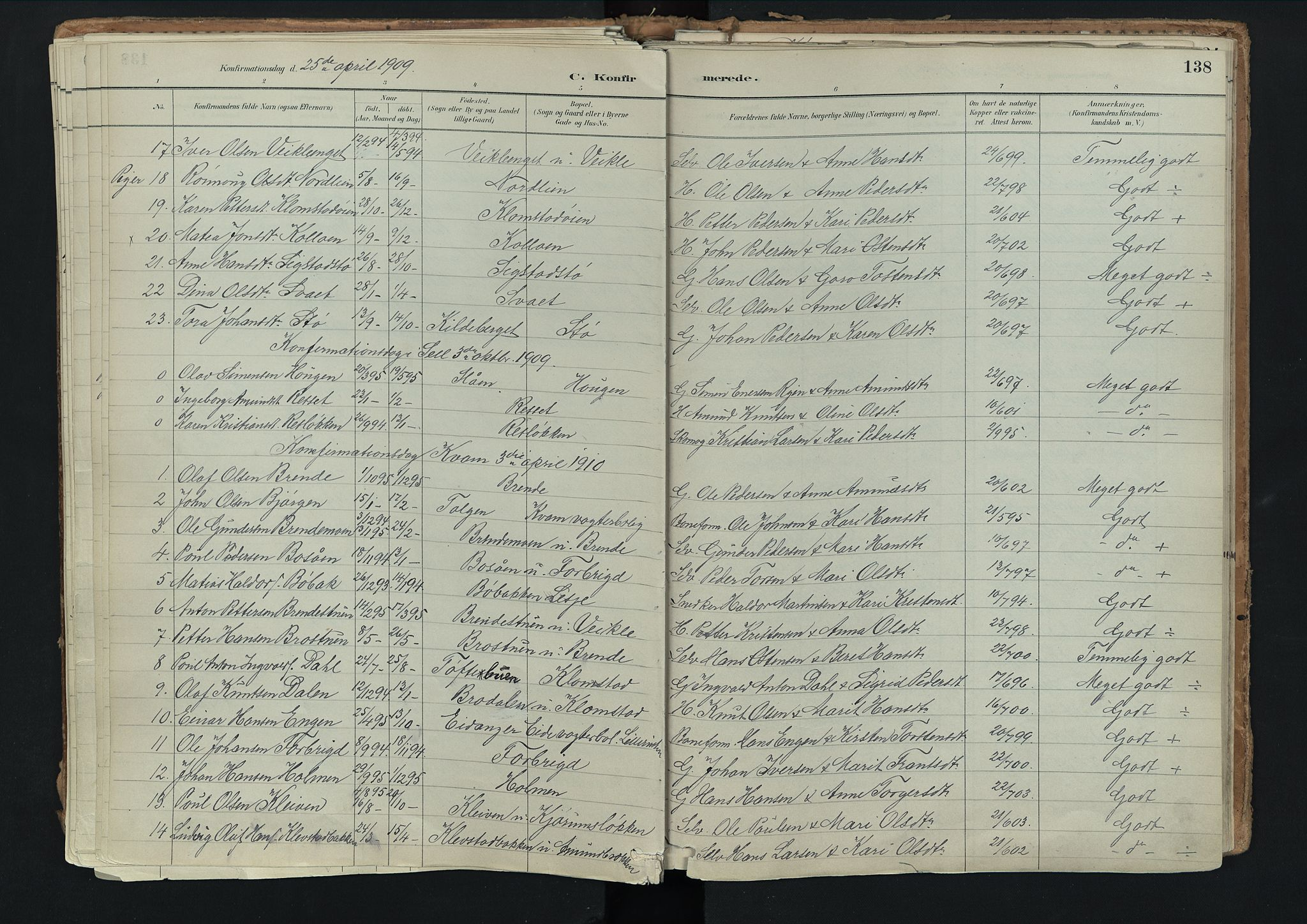 SAH, Nord-Fron prestekontor, Ministerialbok nr. 3, 1884-1914, s. 138