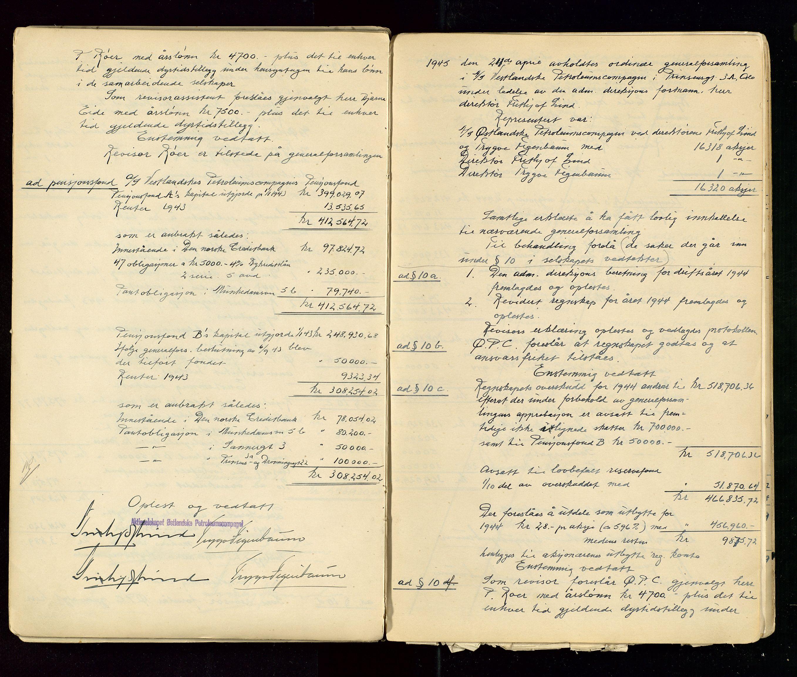 SAST, PA 1533 - A/S Vestlandske Petroleumscompani, A/Aa/L0001: Generalforsamlinger og styreprotokoller, 1890-1953, s. 133