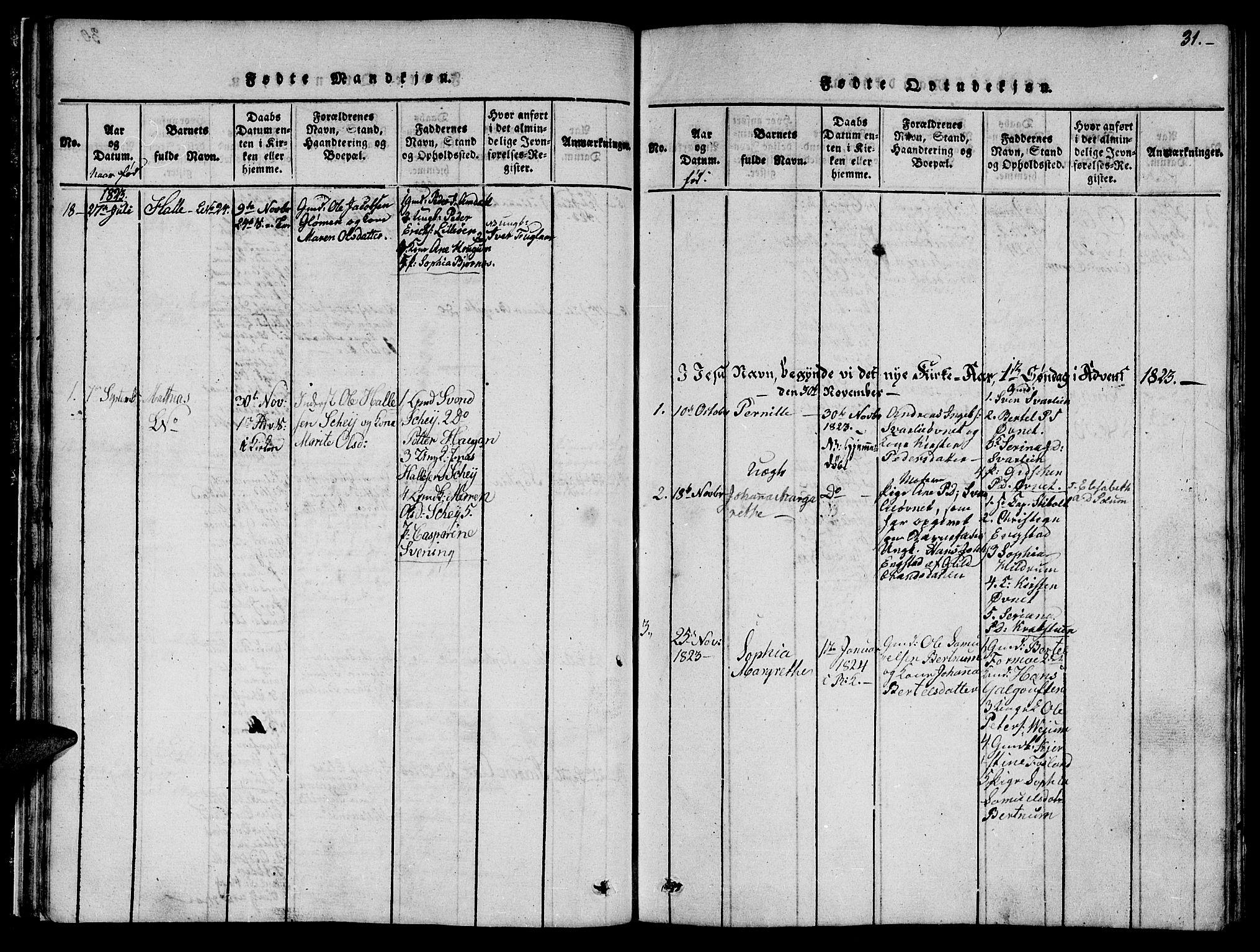 SAT, Ministerialprotokoller, klokkerbøker og fødselsregistre - Nord-Trøndelag, 764/L0559: Klokkerbok nr. 764C01, 1816-1824, s. 31
