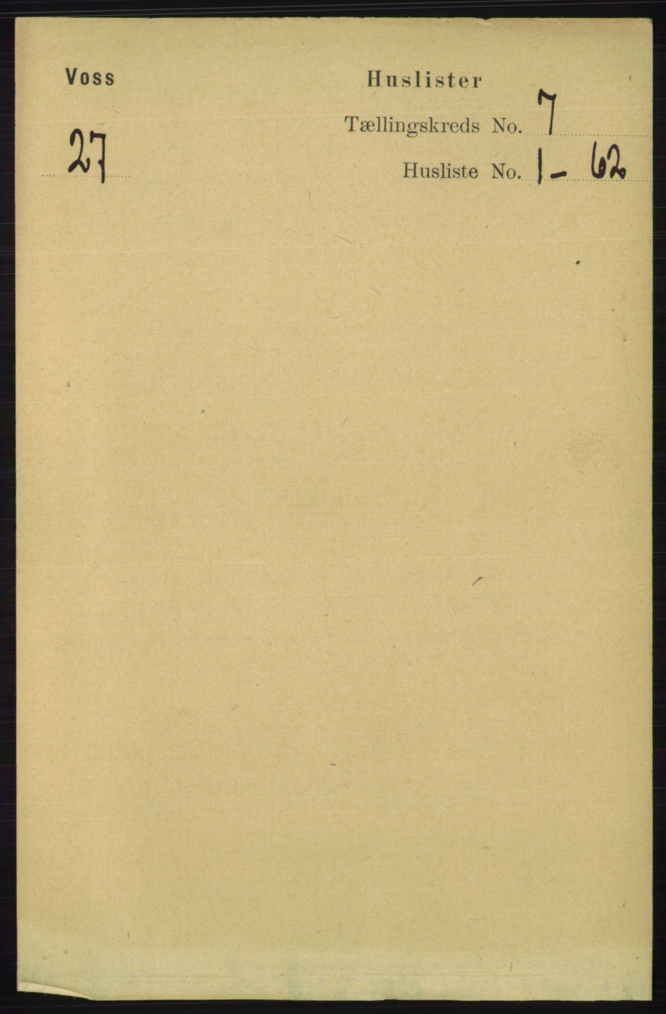 RA, Folketelling 1891 for 1235 Voss herred, 1891, s. 3730