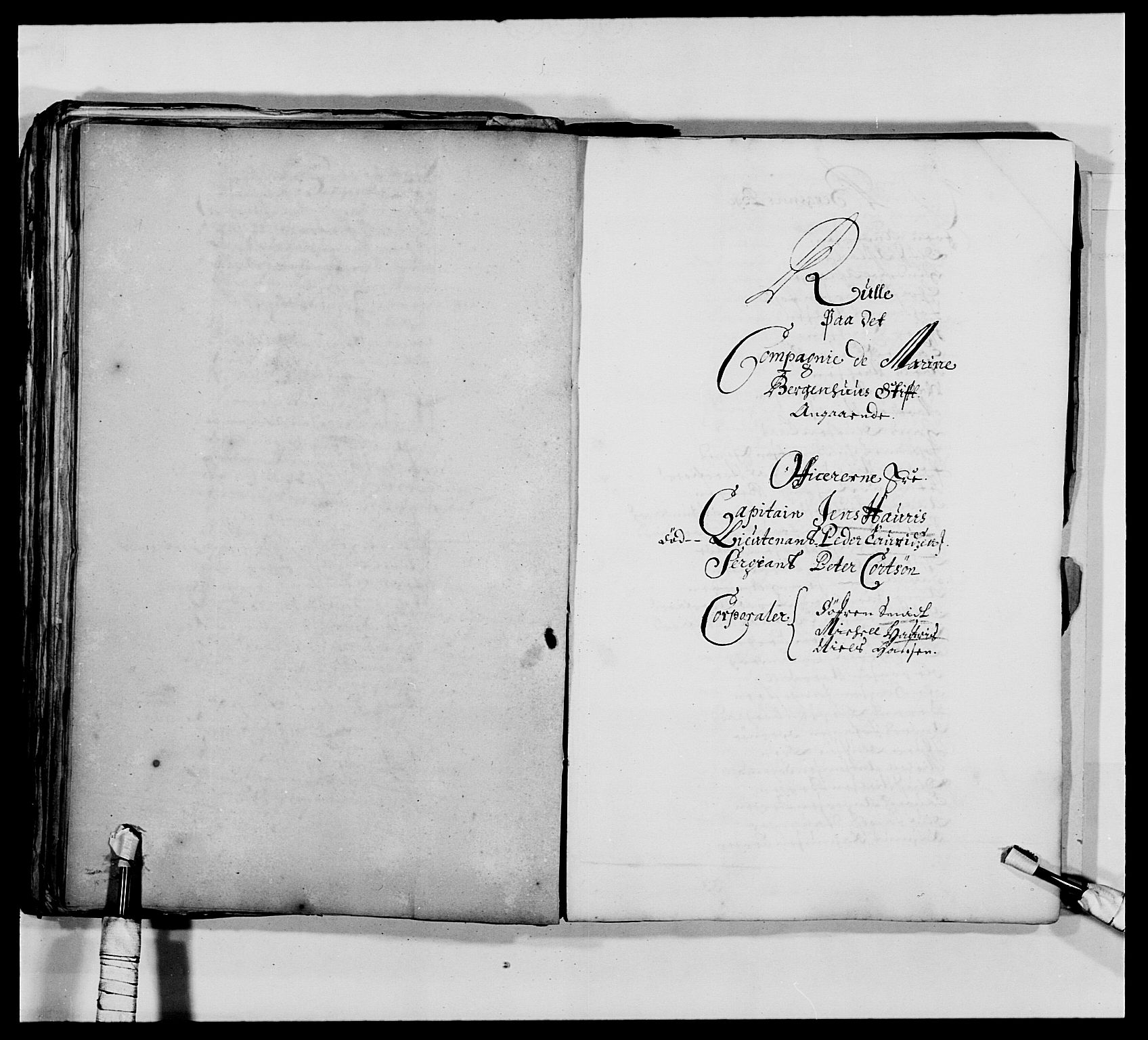 RA, Kommanderende general (KG I) med Det norske krigsdirektorium, E/Ea/L0473: Marineregimentet, 1664-1700, s. 88