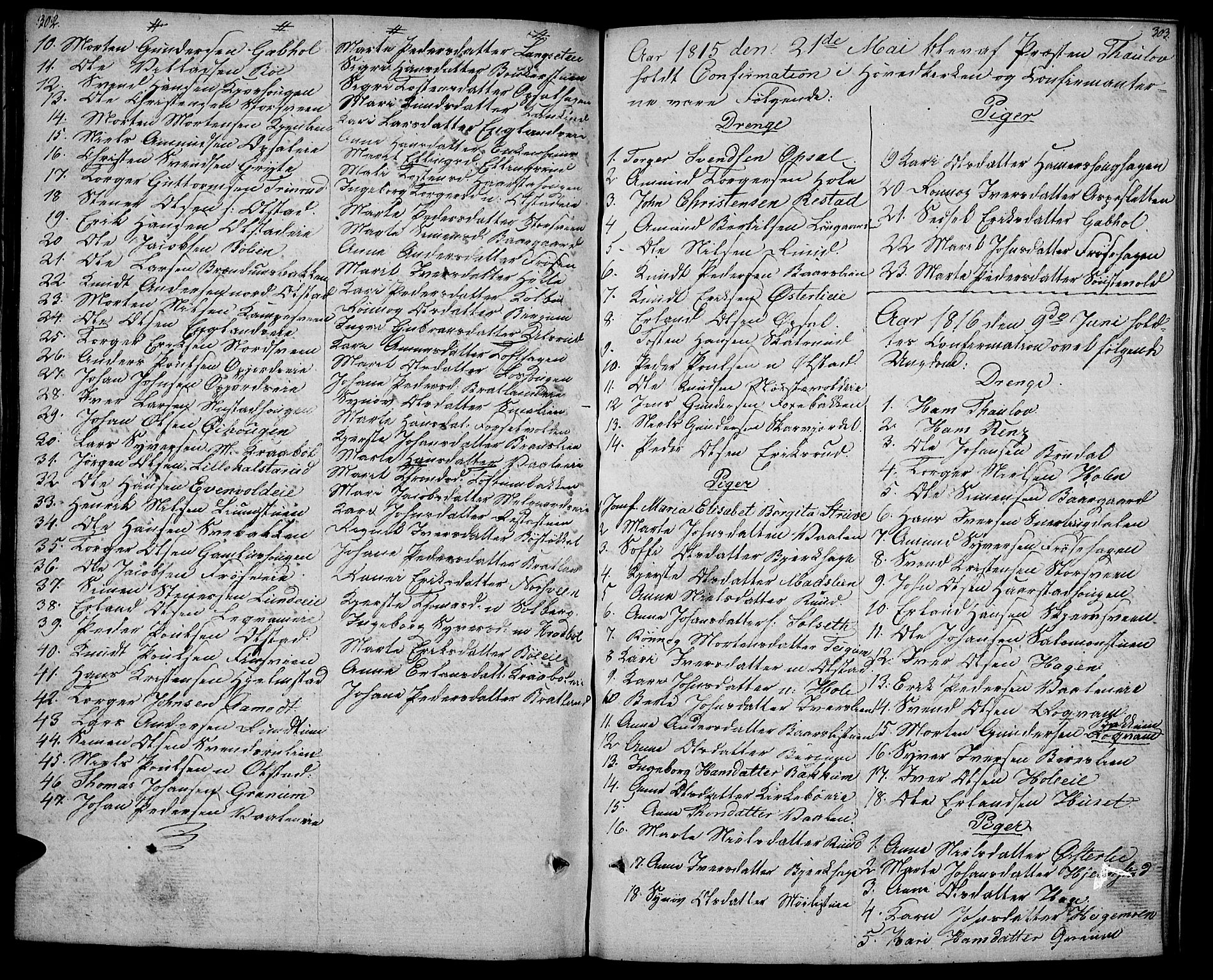 SAH, Gausdal prestekontor, Ministerialbok nr. 4, 1809-1817, s. 302-303