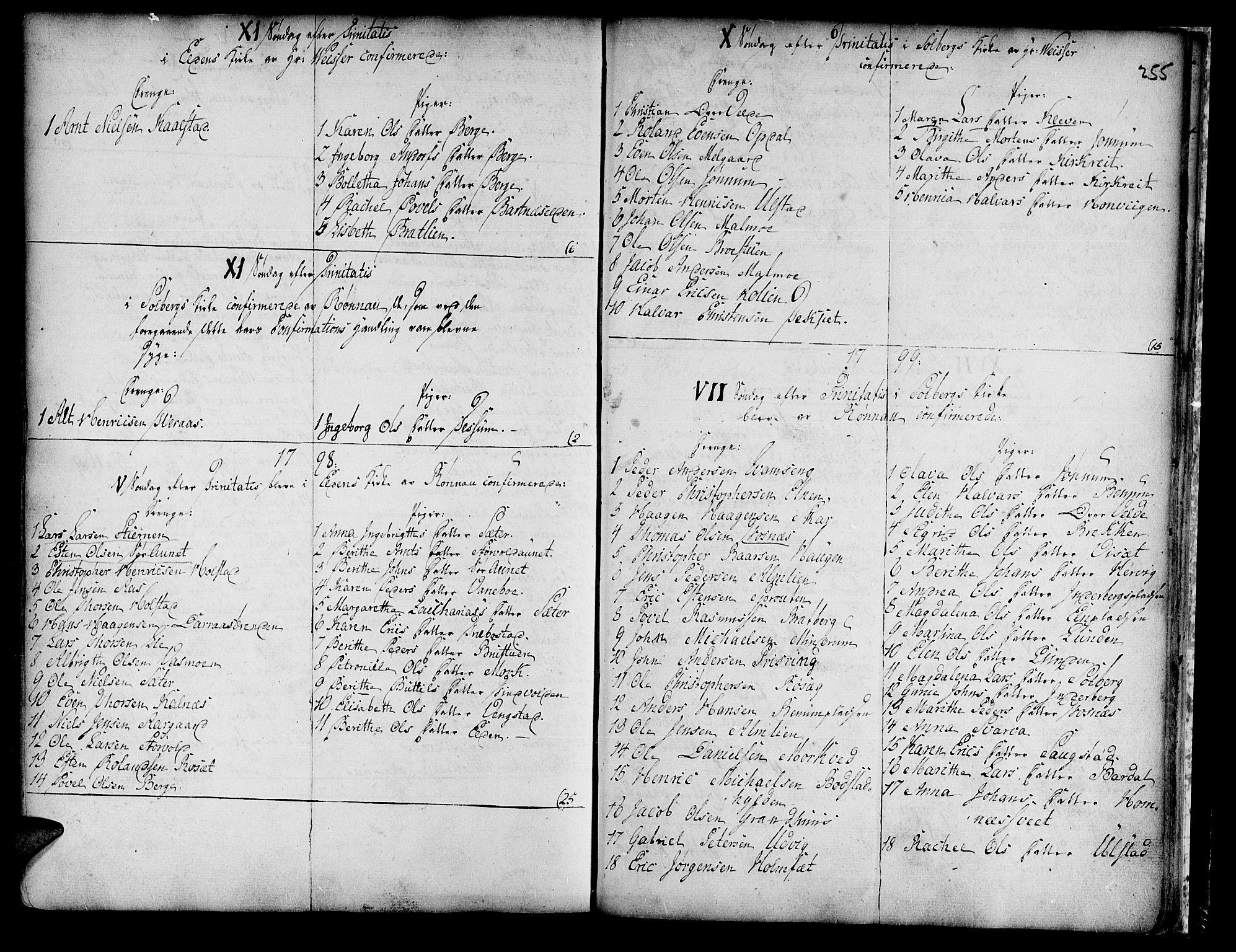 SAT, Ministerialprotokoller, klokkerbøker og fødselsregistre - Nord-Trøndelag, 741/L0385: Ministerialbok nr. 741A01, 1722-1815, s. 255