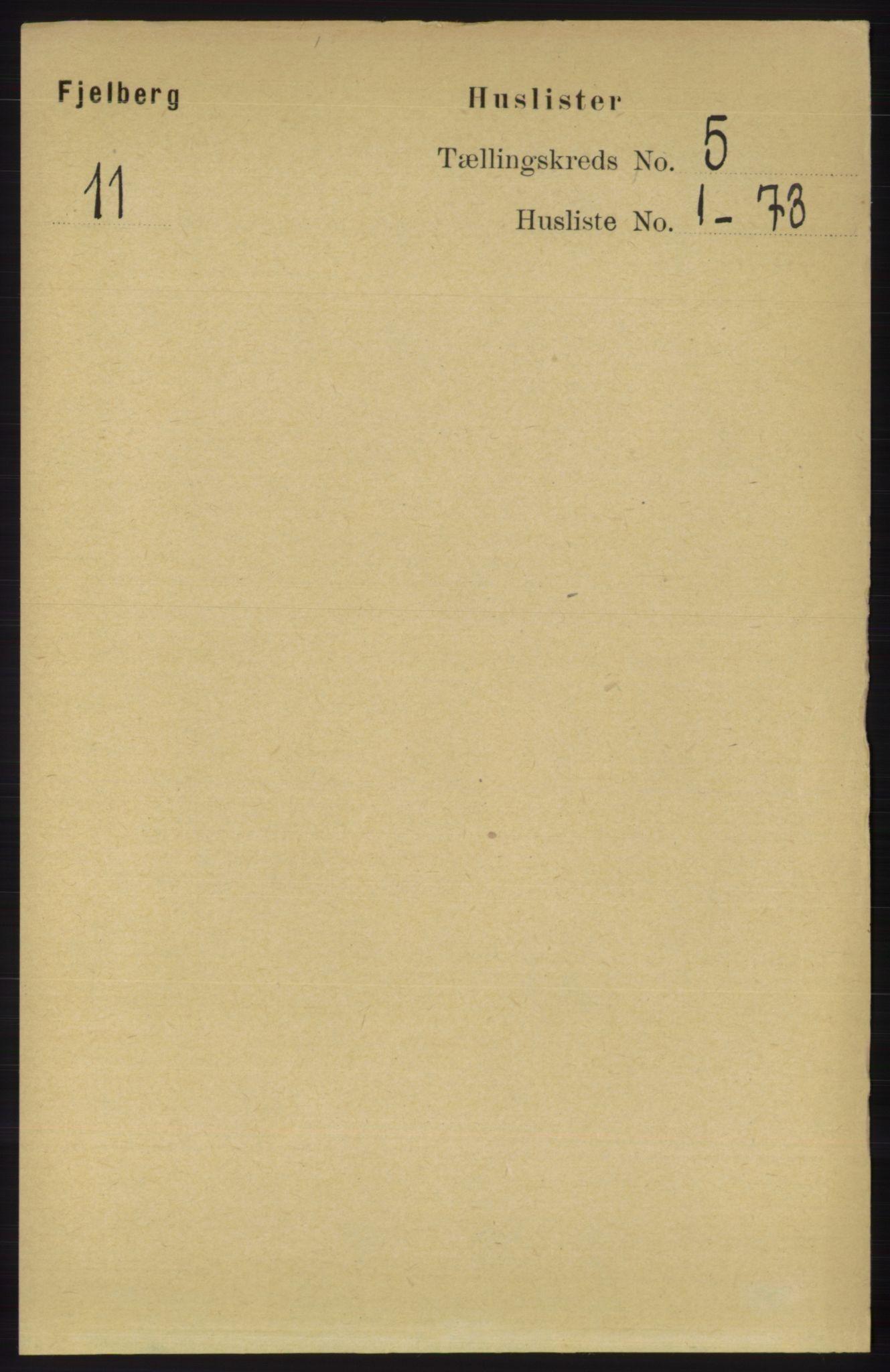 RA, Folketelling 1891 for 1213 Fjelberg herred, 1891, s. 1408