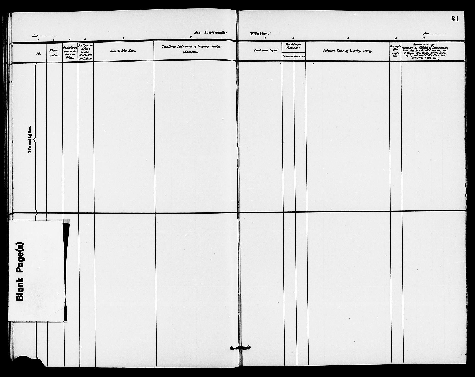 SAKO, Holla kirkebøker, G/Gb/L0002: Klokkerbok nr. II 2, 1897-1913, s. 31
