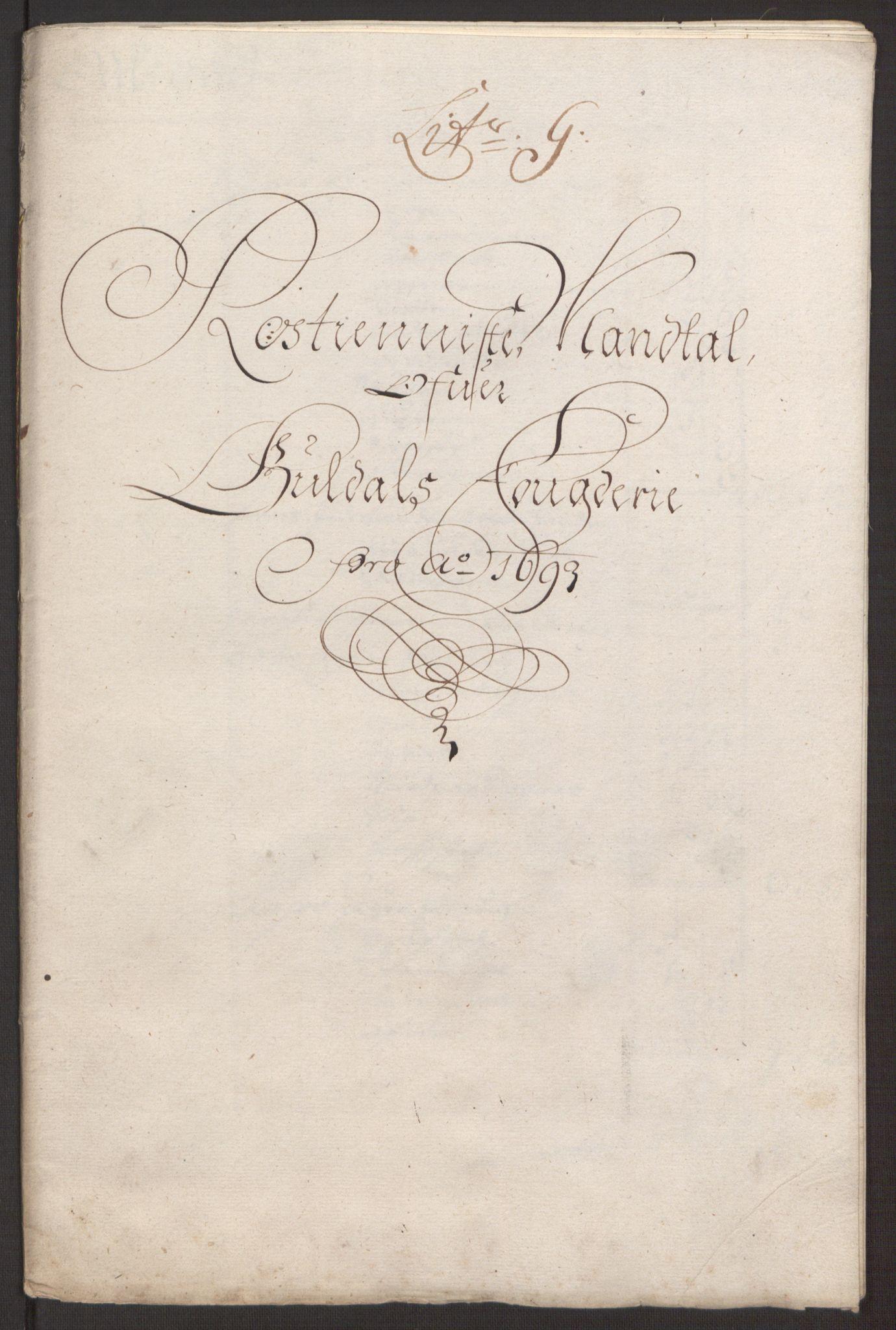 RA, Rentekammeret inntil 1814, Reviderte regnskaper, Fogderegnskap, R59/L3943: Fogderegnskap Gauldal, 1693, s. 107
