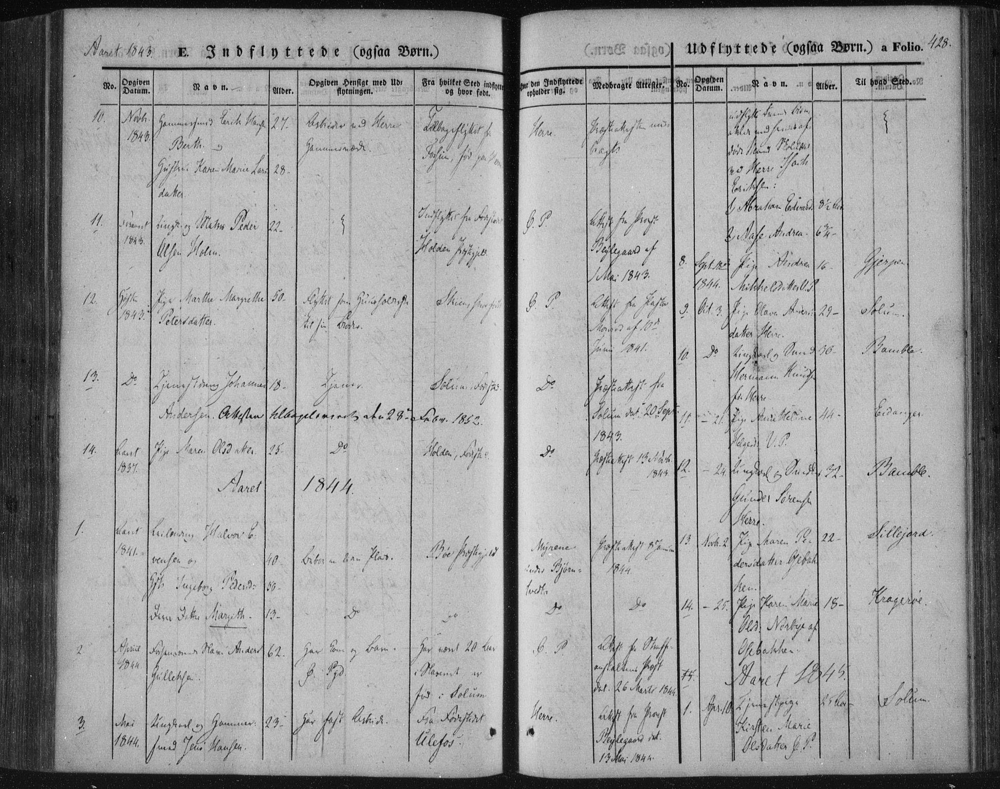 SAKO, Porsgrunn kirkebøker , F/Fa/L0006: Ministerialbok nr. 6, 1841-1857, s. 428
