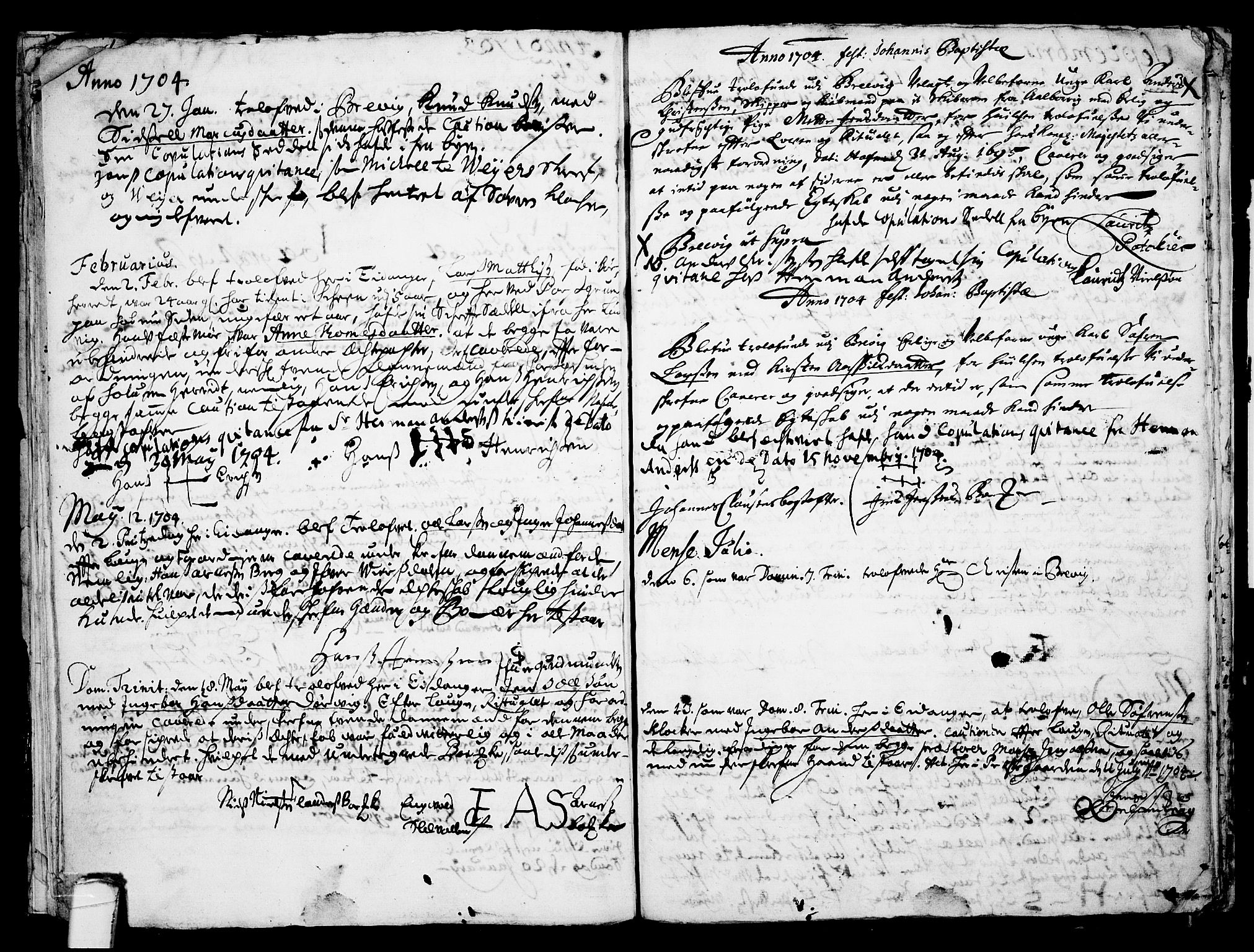 SAKO, Eidanger kirkebøker, F/Fa/L0001: Ministerialbok nr. 1, 1695-1717, s. 22