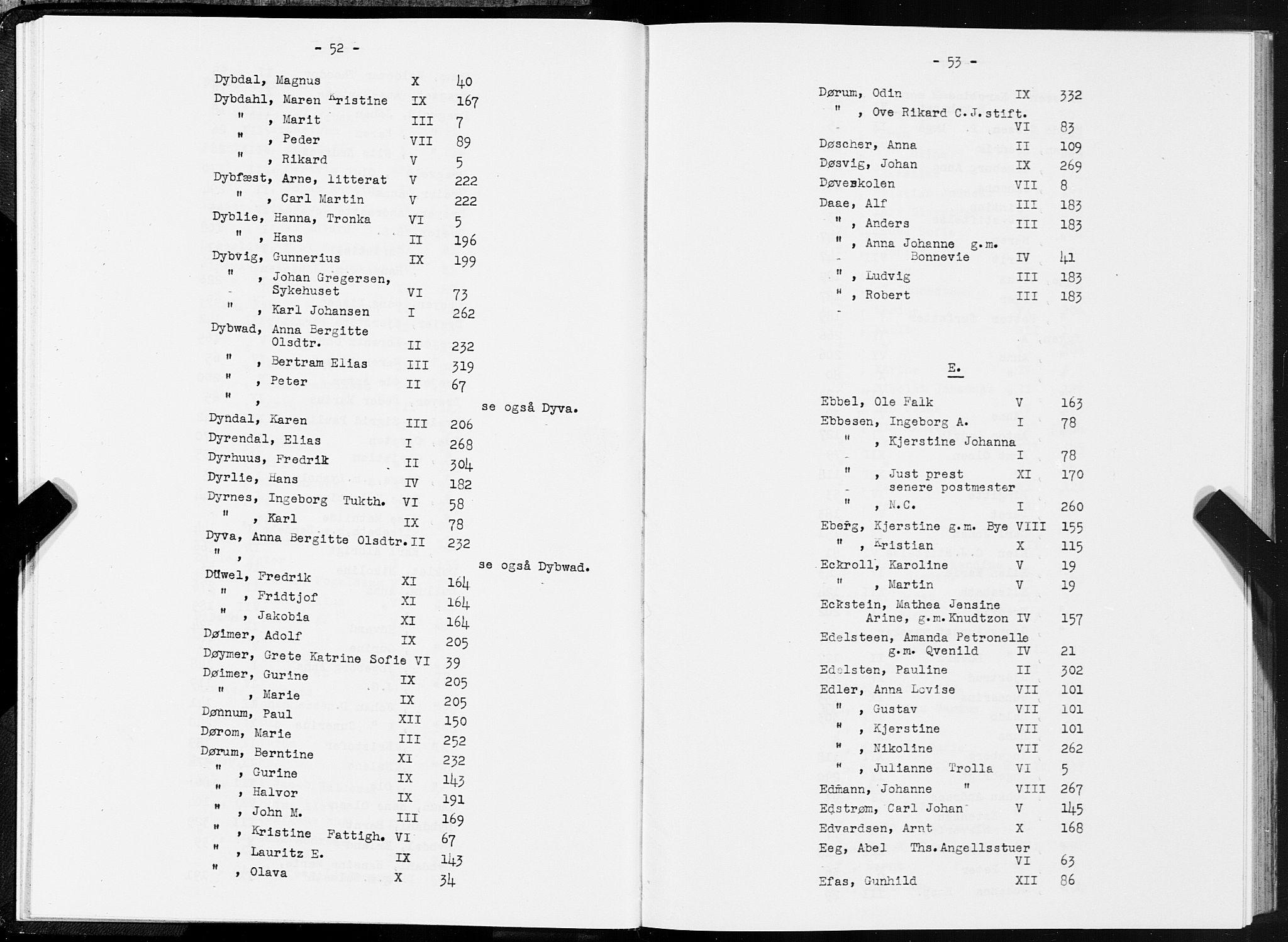 SAT, Folketelling 1875 for 1601 Trondheim kjøpstad, 1875, s. 52-53