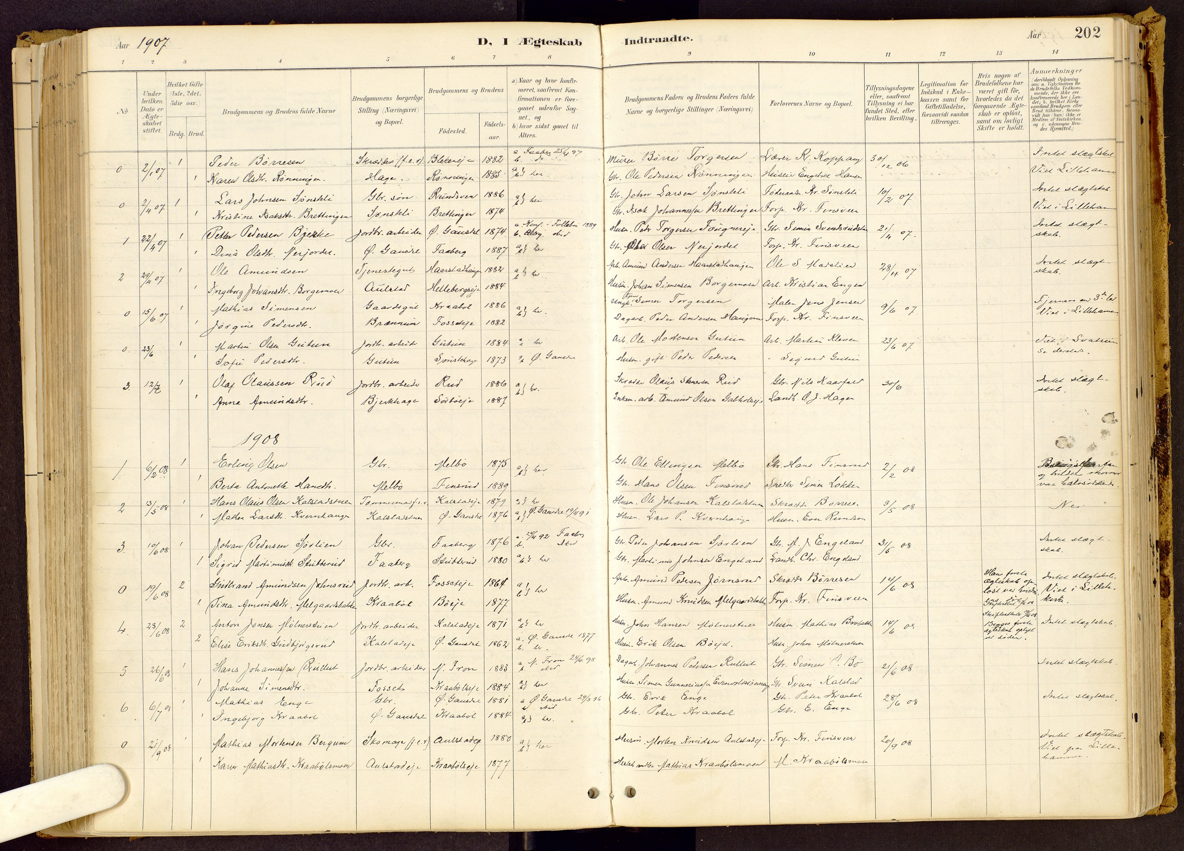 SAH, Vestre Gausdal prestekontor, Ministerialbok nr. 1, 1887-1914, s. 202