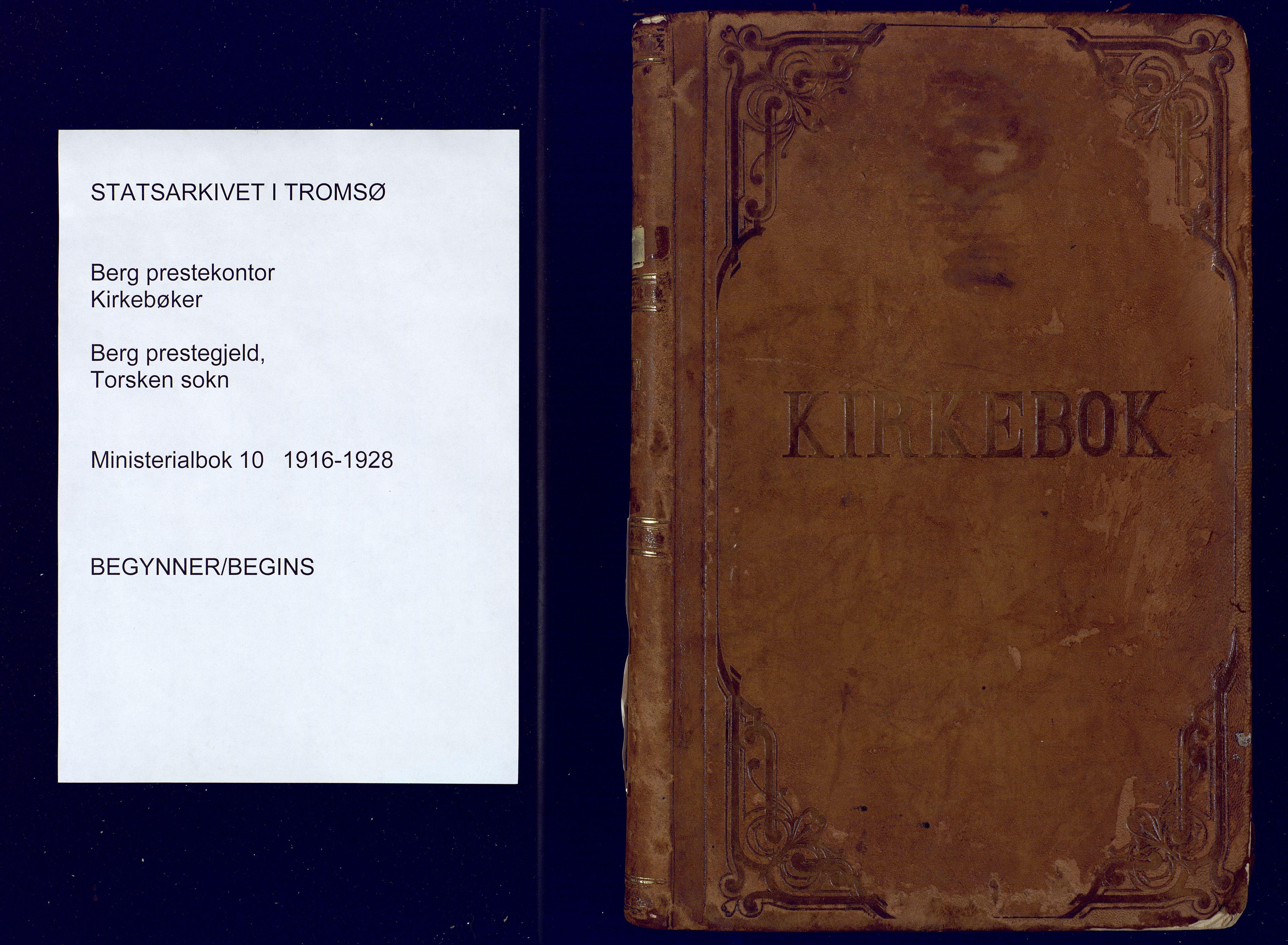 SATØ, Mefjord/Berg sokneprestkontor, G/Ga/Gaa: Ministerialbok nr. 10, 1916-1928