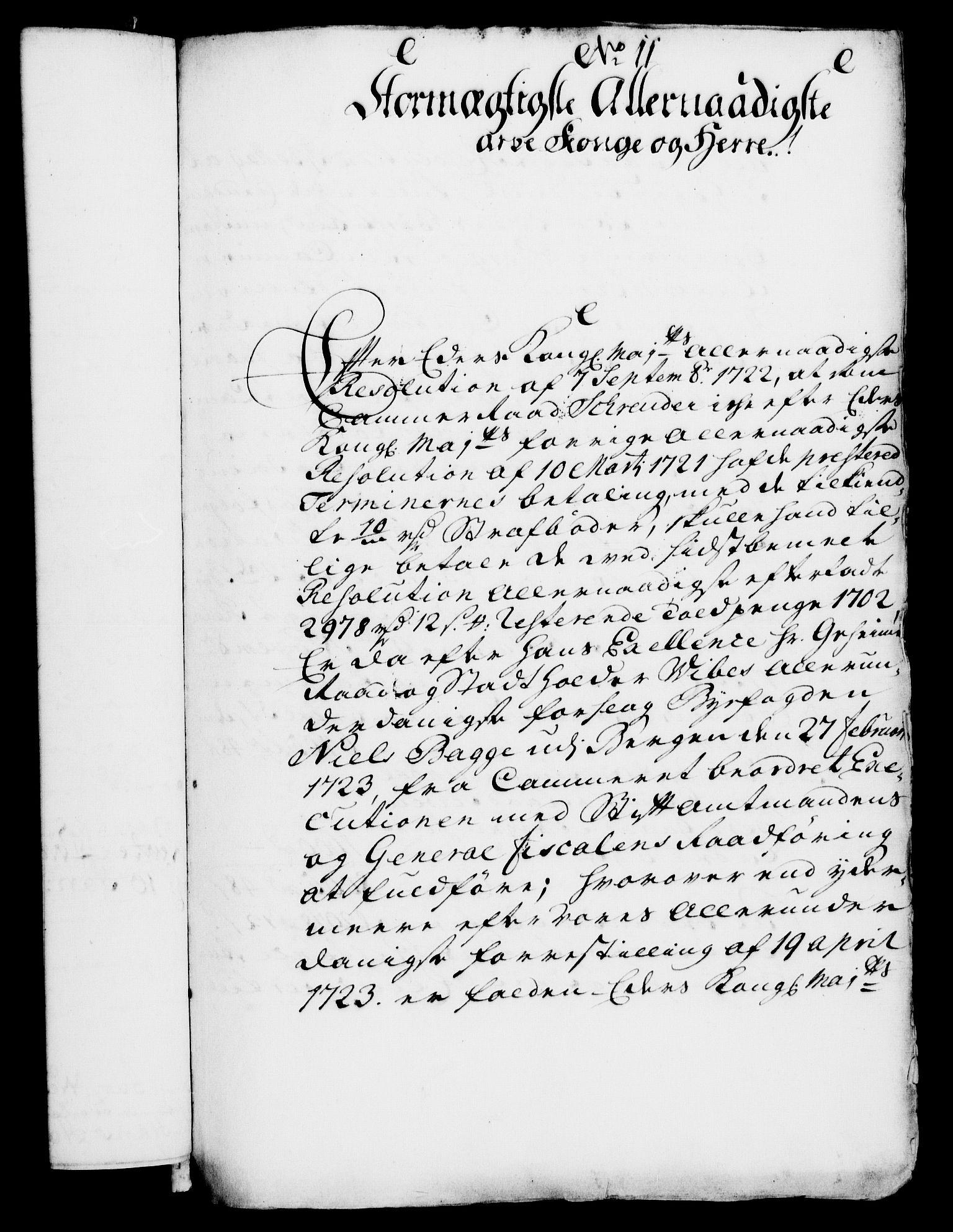 RA, Rentekammeret, Kammerkanselliet, G/Gf/Gfa/L0007: Norsk relasjons- og resolusjonsprotokoll (merket RK 52.7), 1724, s. 138