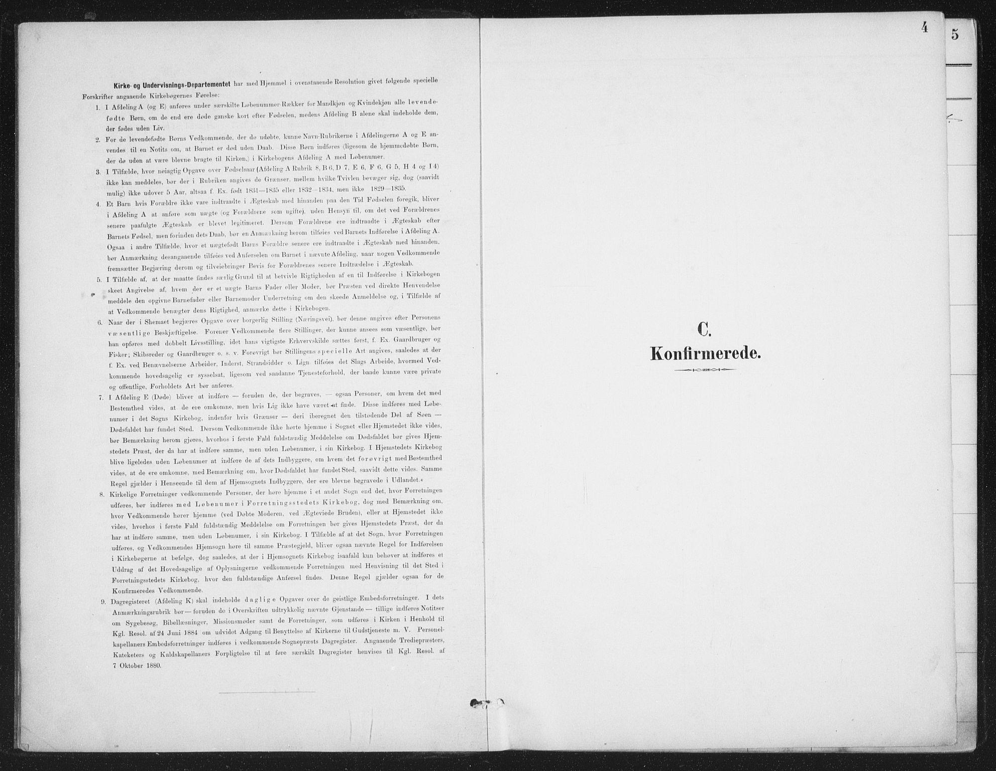 SAT, Ministerialprotokoller, klokkerbøker og fødselsregistre - Nordland, 888/L1245: Ministerialbok nr. 888A11, 1888-1900, s. 4