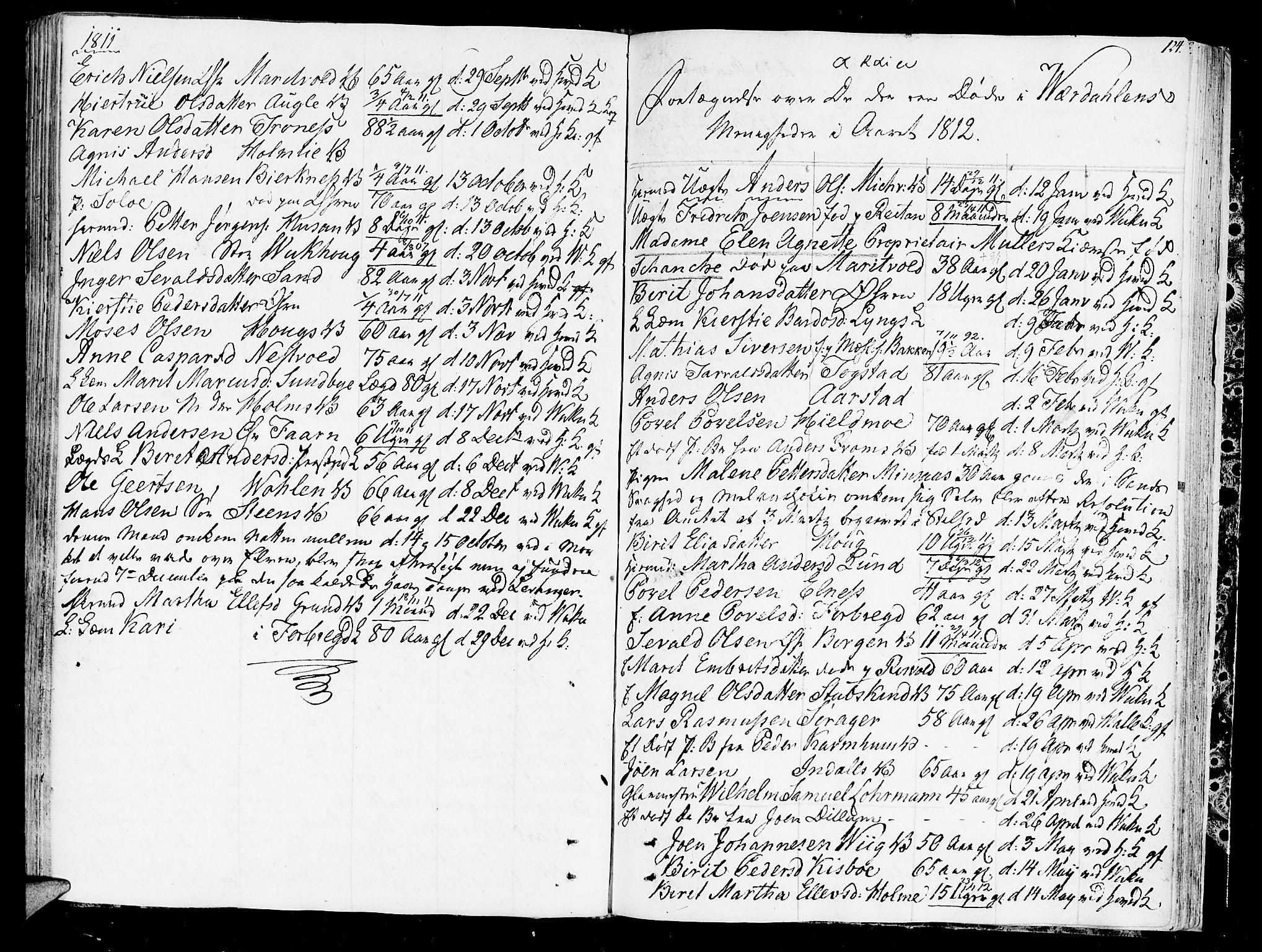 SAT, Ministerialprotokoller, klokkerbøker og fødselsregistre - Nord-Trøndelag, 723/L0233: Ministerialbok nr. 723A04, 1805-1816, s. 124