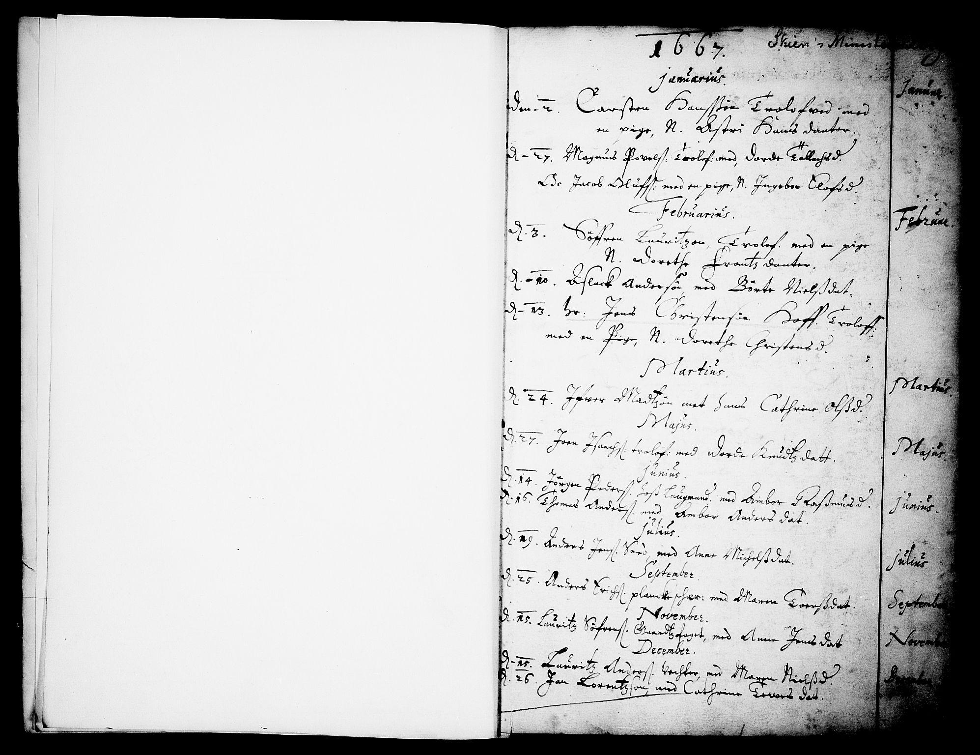 SAKO, Skien kirkebøker, F/Fa/L0001: Ministerialbok nr. 1, 1659-1679, s. 8