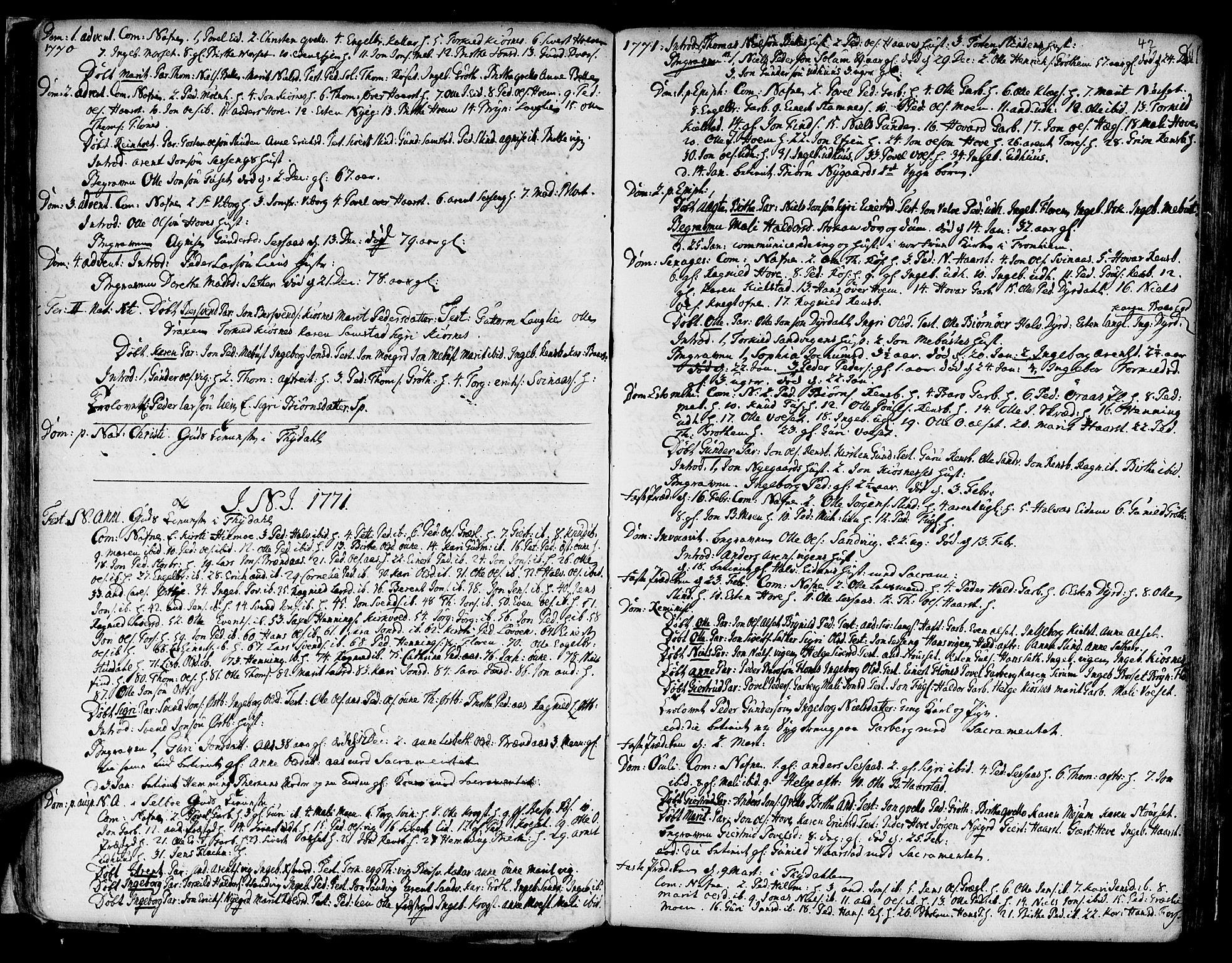 SAT, Ministerialprotokoller, klokkerbøker og fødselsregistre - Sør-Trøndelag, 695/L1138: Ministerialbok nr. 695A02 /1, 1757-1801, s. 42