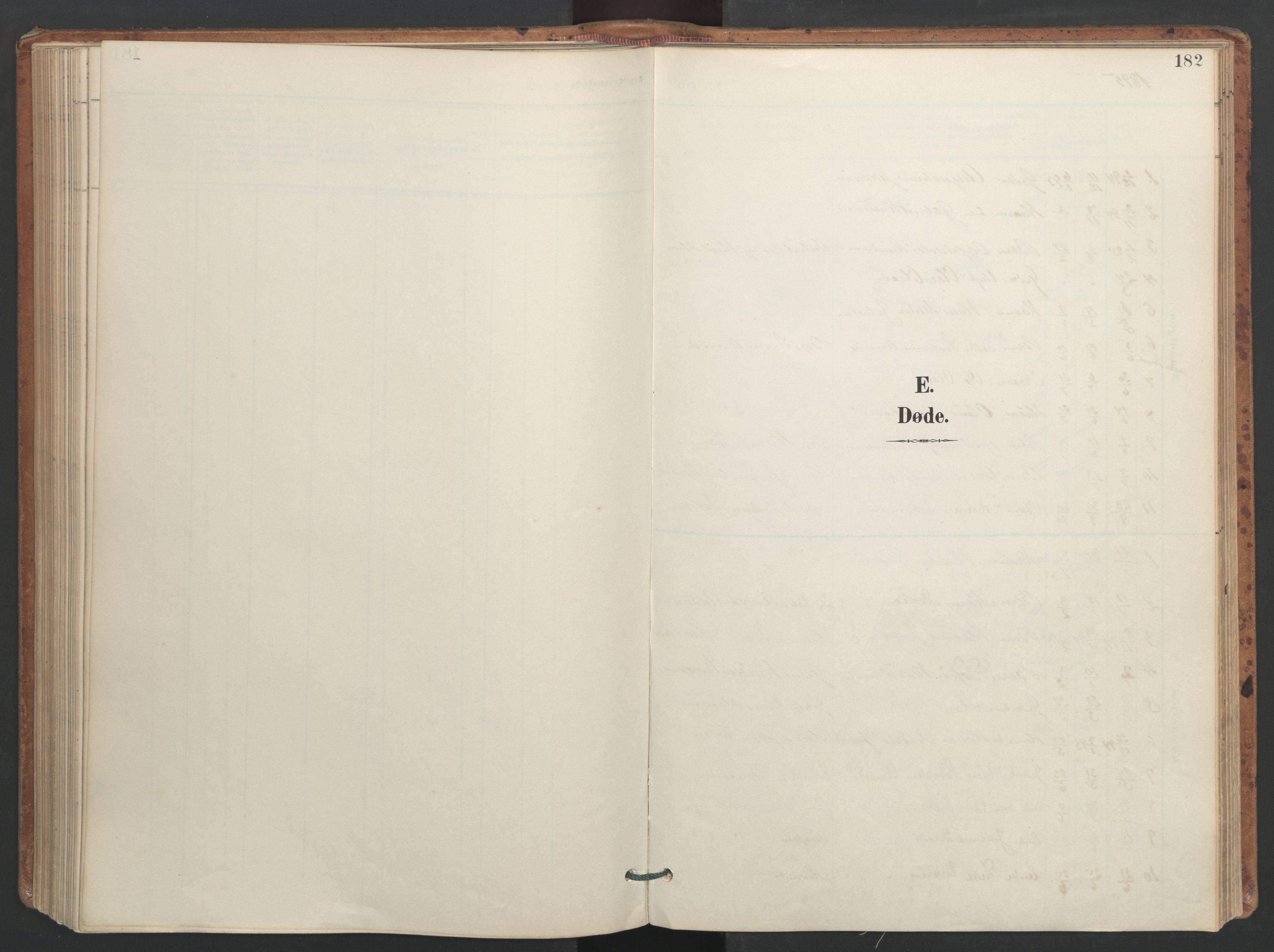 SAT, Ministerialprotokoller, klokkerbøker og fødselsregistre - Sør-Trøndelag, 655/L0681: Ministerialbok nr. 655A10, 1895-1907, s. 182