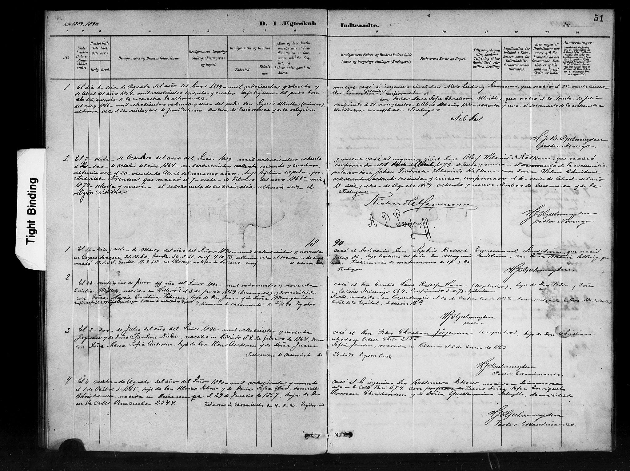 SAB, Den Norske Sjømannsmisjon i utlandet*, Ministerialbok nr. A 1, 1888-1898, s. 51