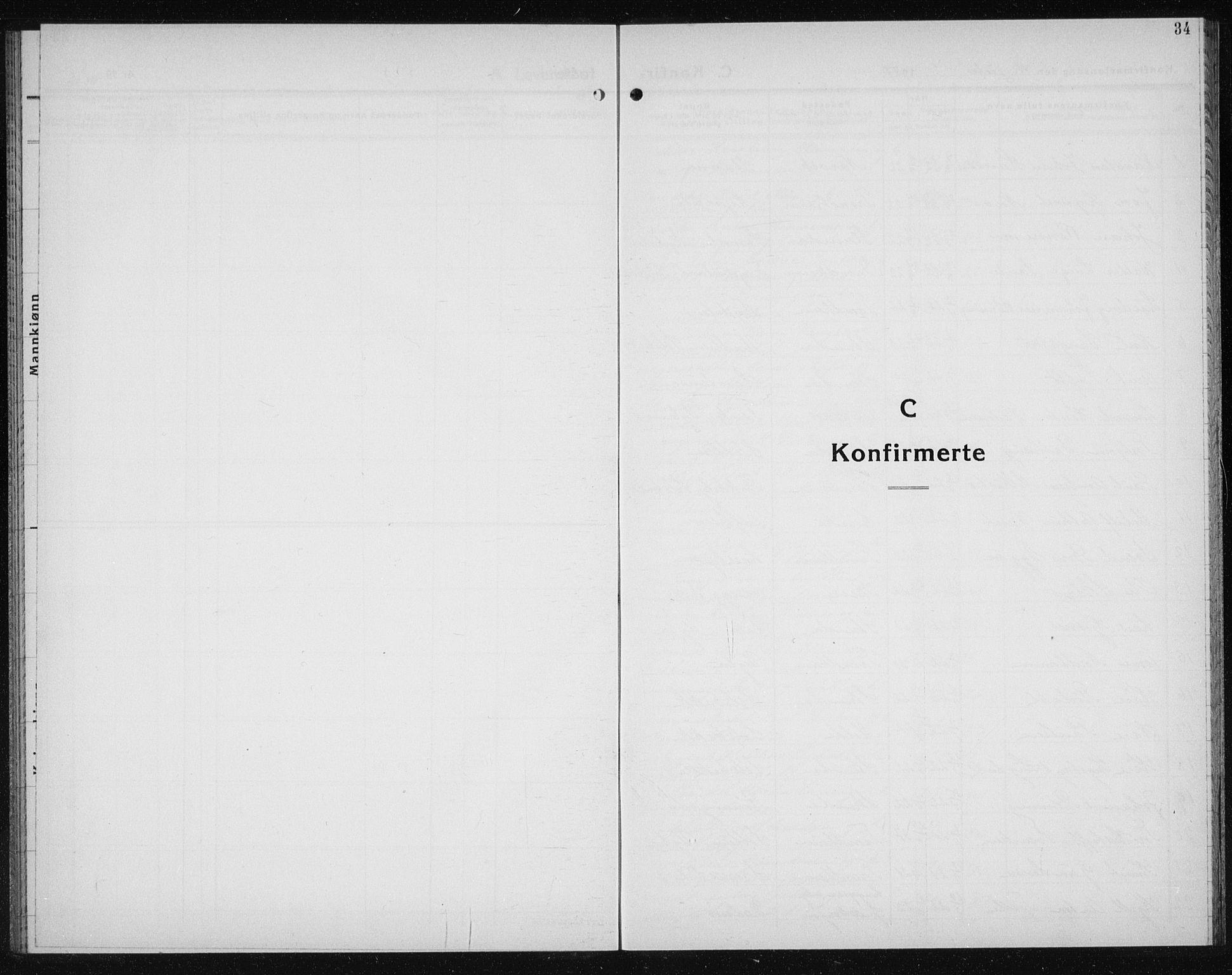 SAT, Ministerialprotokoller, klokkerbøker og fødselsregistre - Sør-Trøndelag, 611/L0357: Klokkerbok nr. 611C05, 1938-1942, s. 34