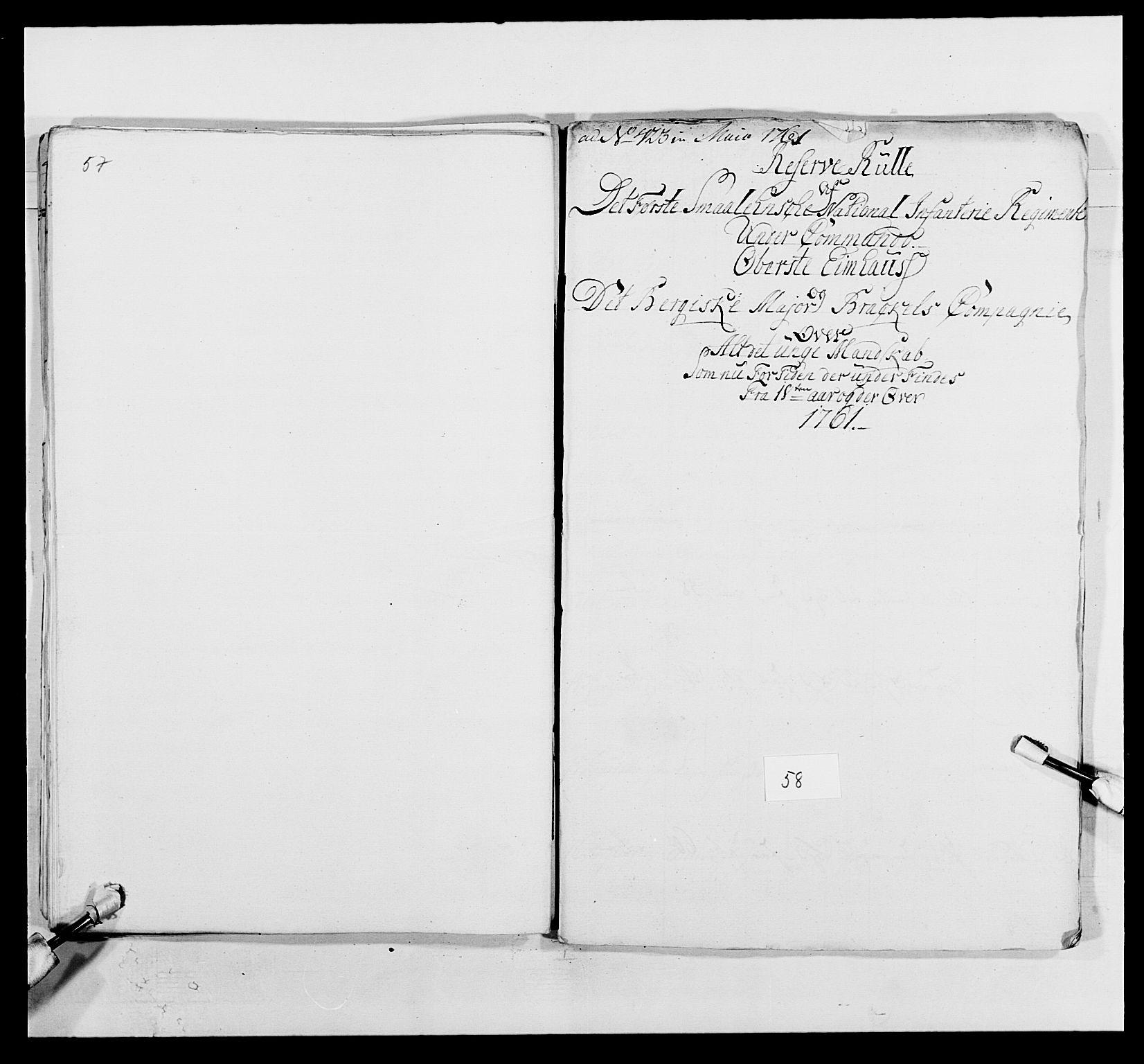 RA, Kommanderende general (KG I) med Det norske krigsdirektorium, E/Ea/L0495: 1. Smålenske regiment, 1732-1763, s. 743