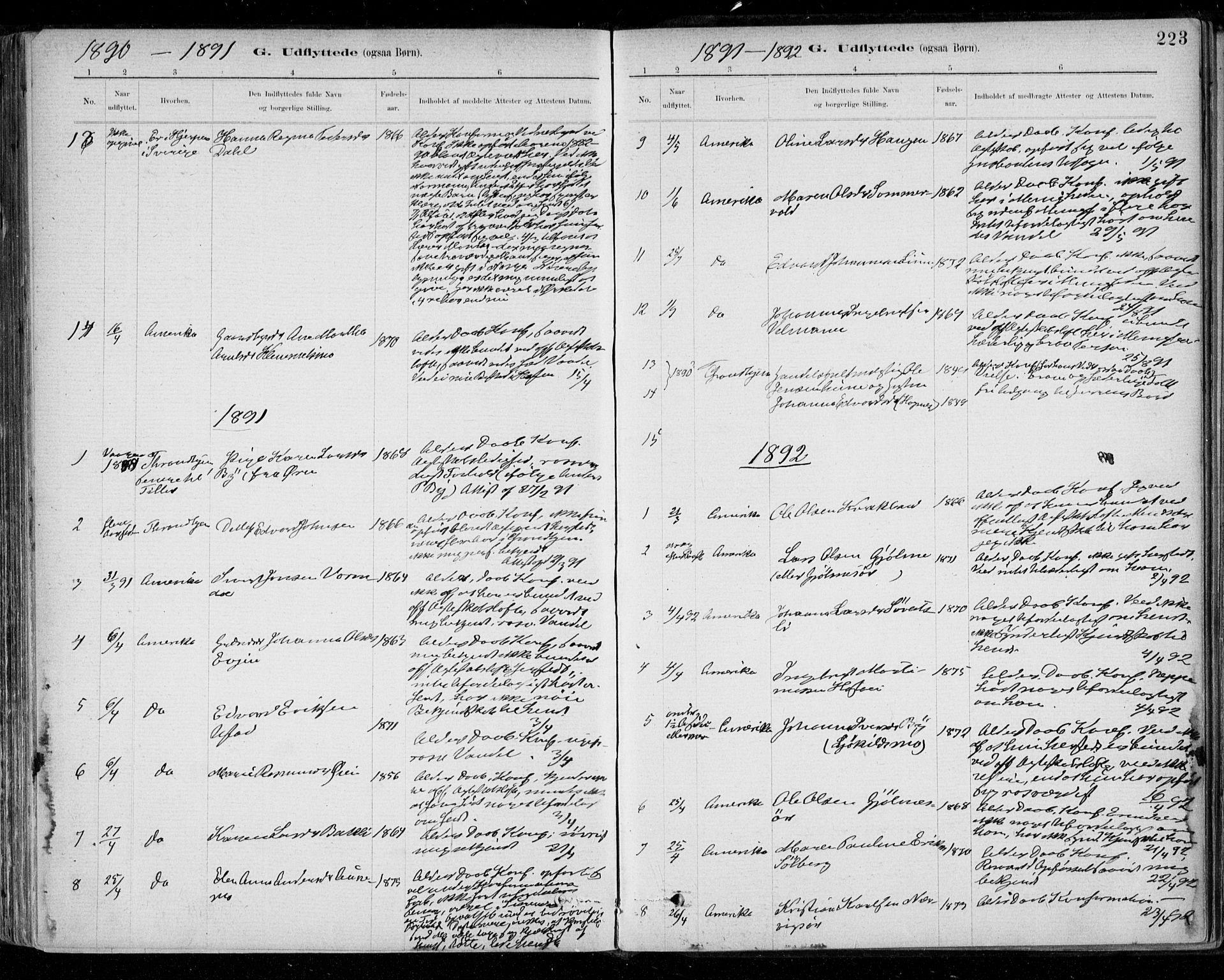 SAT, Ministerialprotokoller, klokkerbøker og fødselsregistre - Sør-Trøndelag, 668/L0810: Ministerialbok nr. 668A10, 1881-1894, s. 223