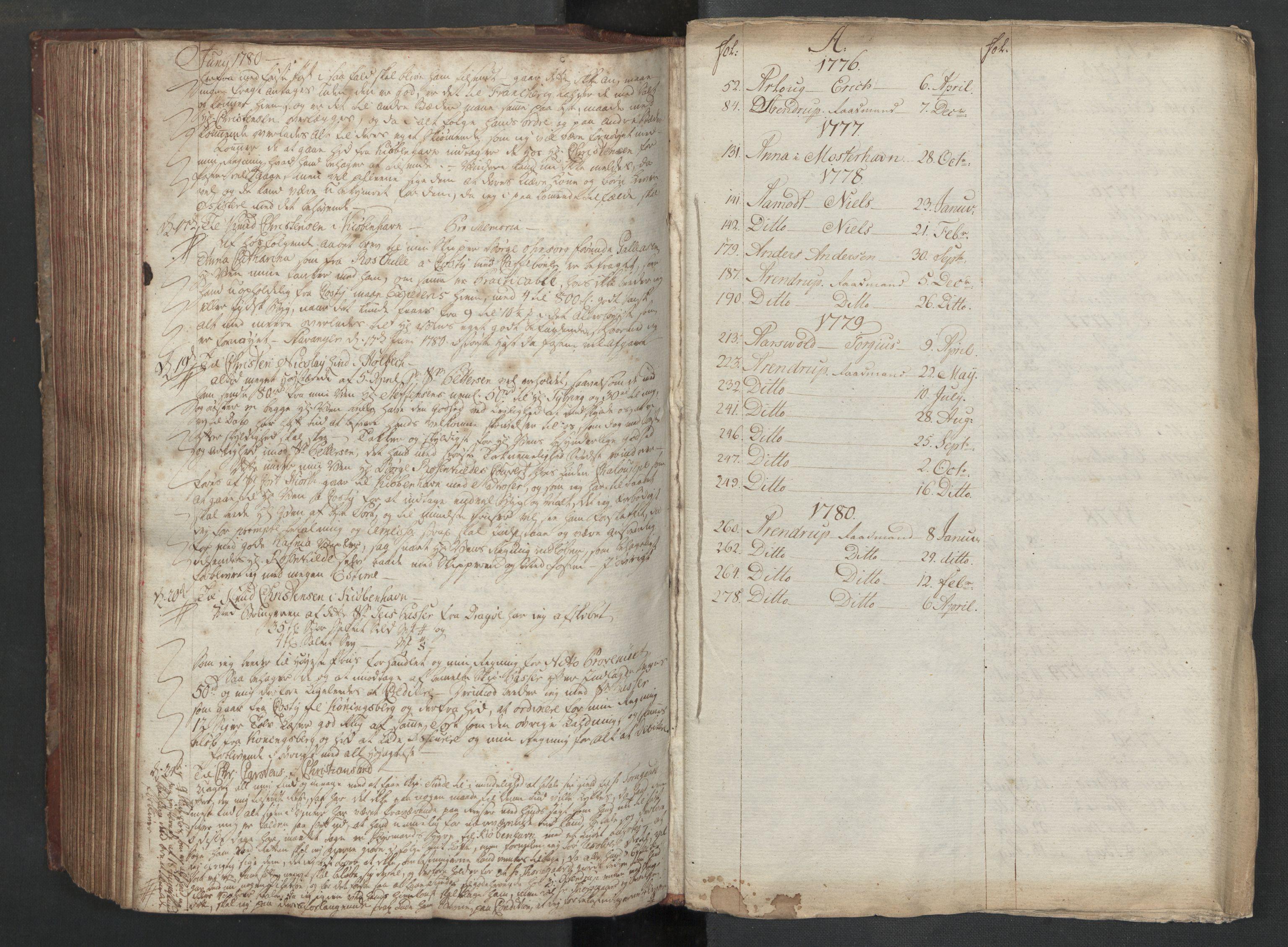 SAST, Pa 0003 - Ploug & Sundt, handelshuset, B/L0003: Kopibok, 1775-1780, s. 286b-upag.