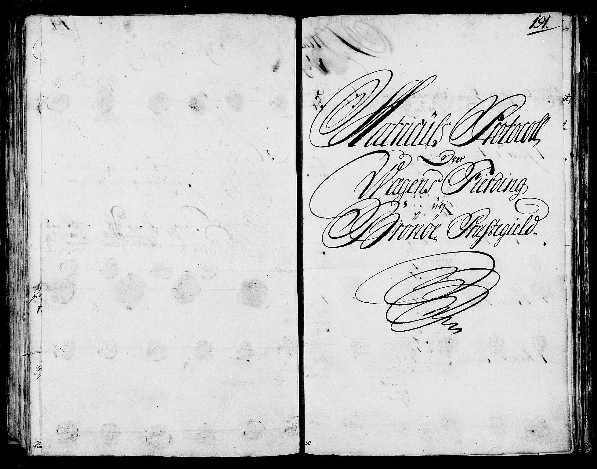 RA, Rentekammeret inntil 1814, Realistisk ordnet avdeling, N/Nb/Nbf/L0170: Helgeland eksaminasjonsprotokoll, 1723, s. 190b-191a