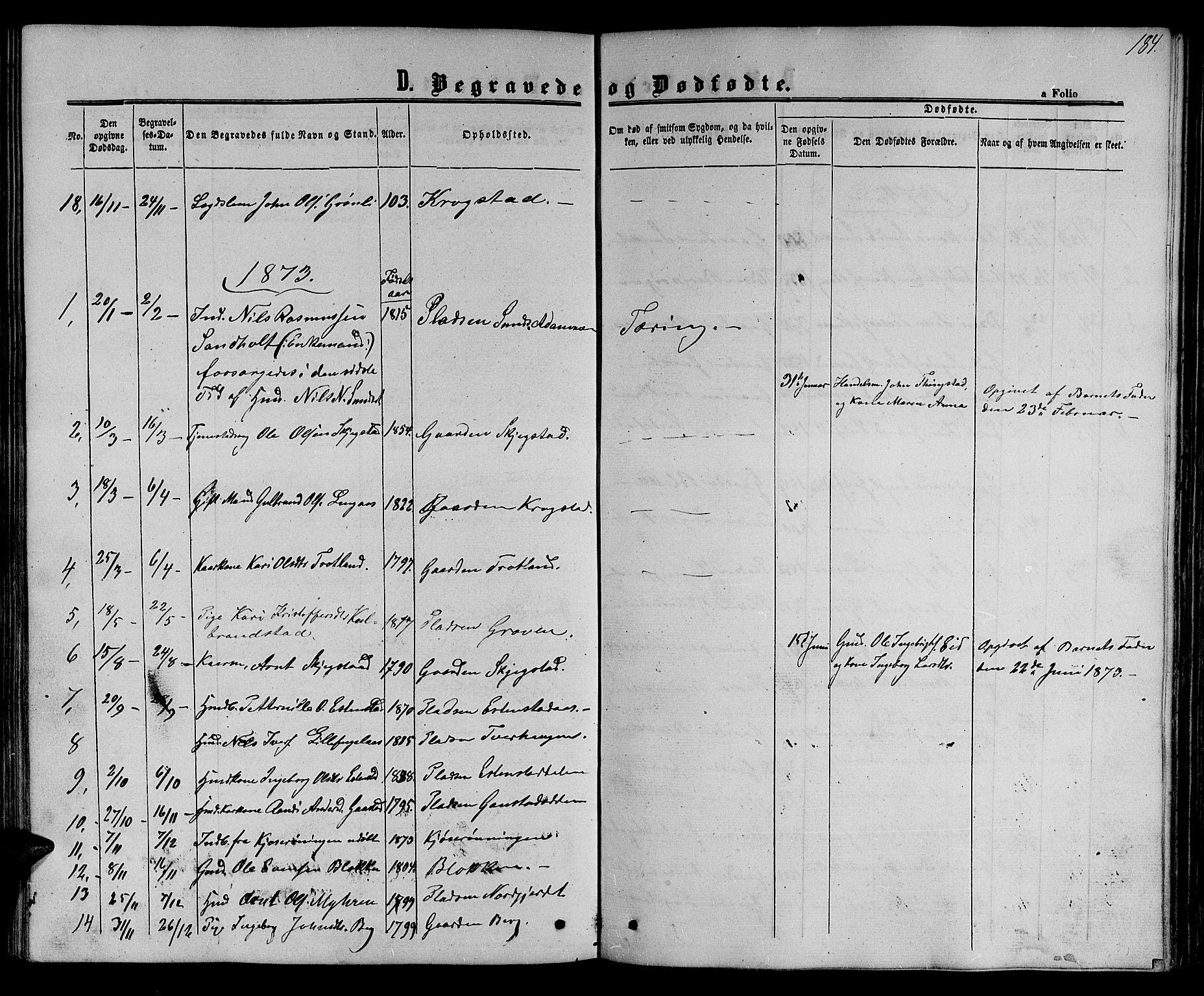 SAT, Ministerialprotokoller, klokkerbøker og fødselsregistre - Sør-Trøndelag, 694/L1131: Klokkerbok nr. 694C03, 1858-1886, s. 184