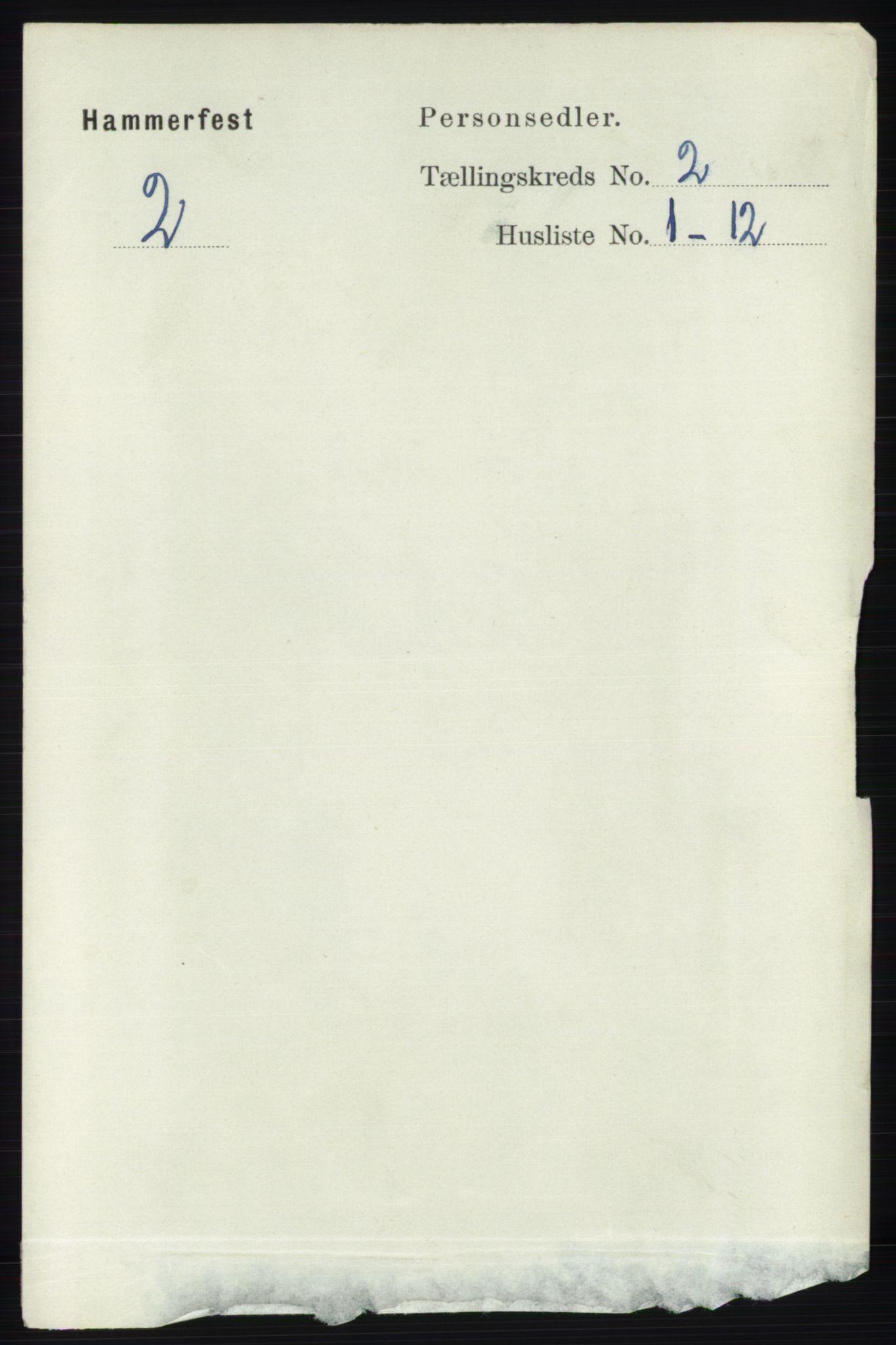 RA, Folketelling 1891 for 2001 Hammerfest kjøpstad, 1891, s. 271
