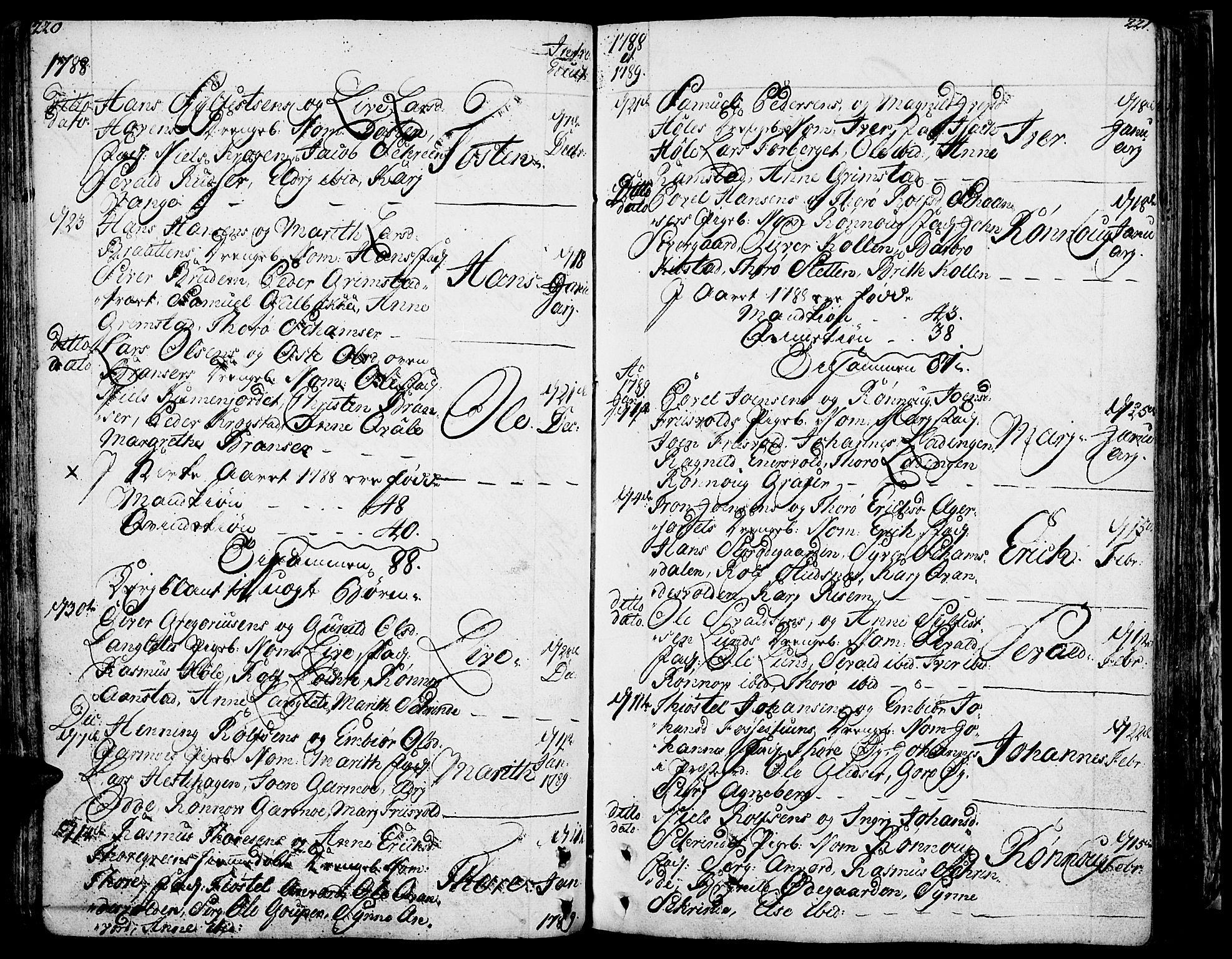 SAH, Lom prestekontor, K/L0002: Ministerialbok nr. 2, 1749-1801, s. 220-221
