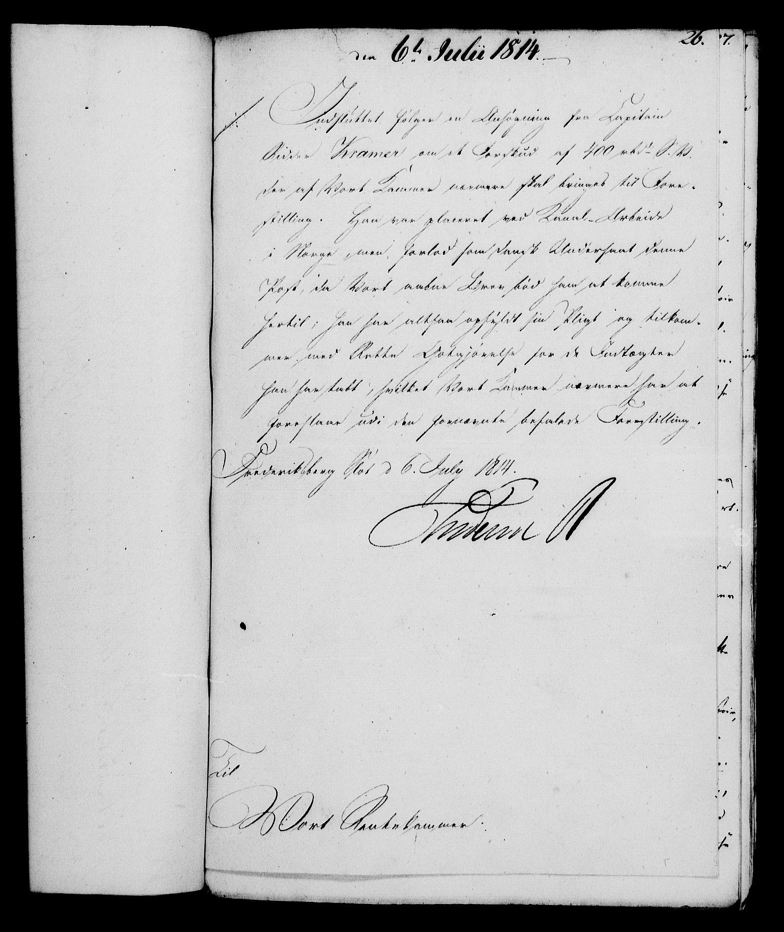 RA, Rentekammeret, Kammerkanselliet, G/Gf/Gfa/L0095: Norsk relasjons- og resolusjonsprotokoll (merket RK 52.95), 1813-1814, s. 638
