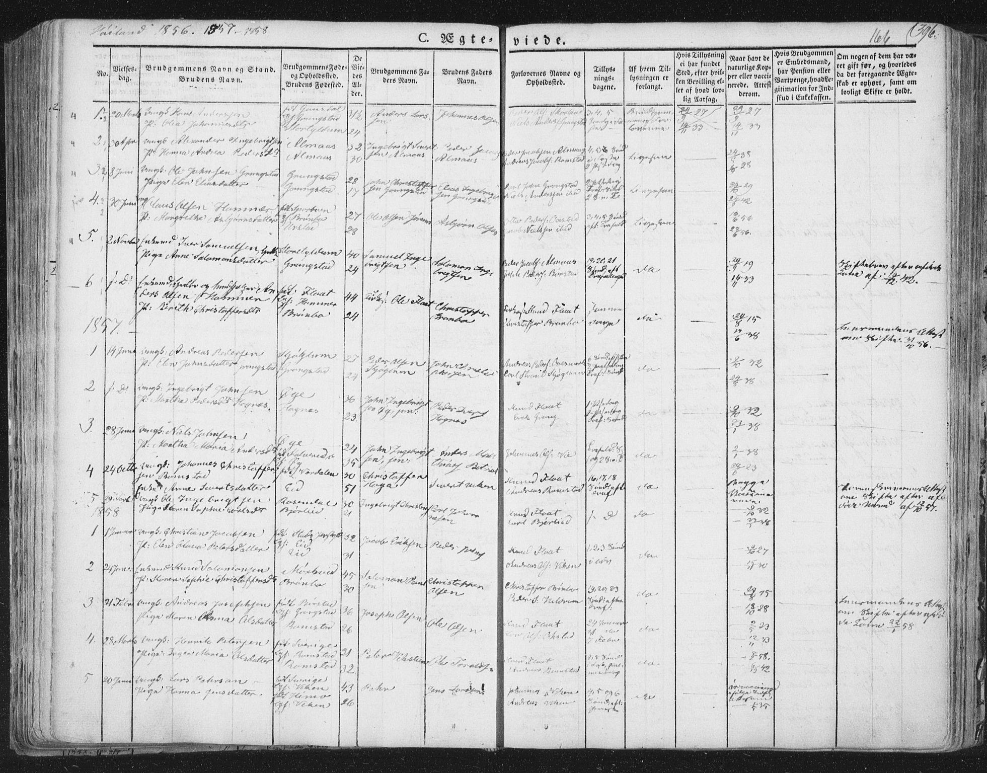 SAT, Ministerialprotokoller, klokkerbøker og fødselsregistre - Nord-Trøndelag, 758/L0513: Ministerialbok nr. 758A02 /2, 1839-1868, s. 166