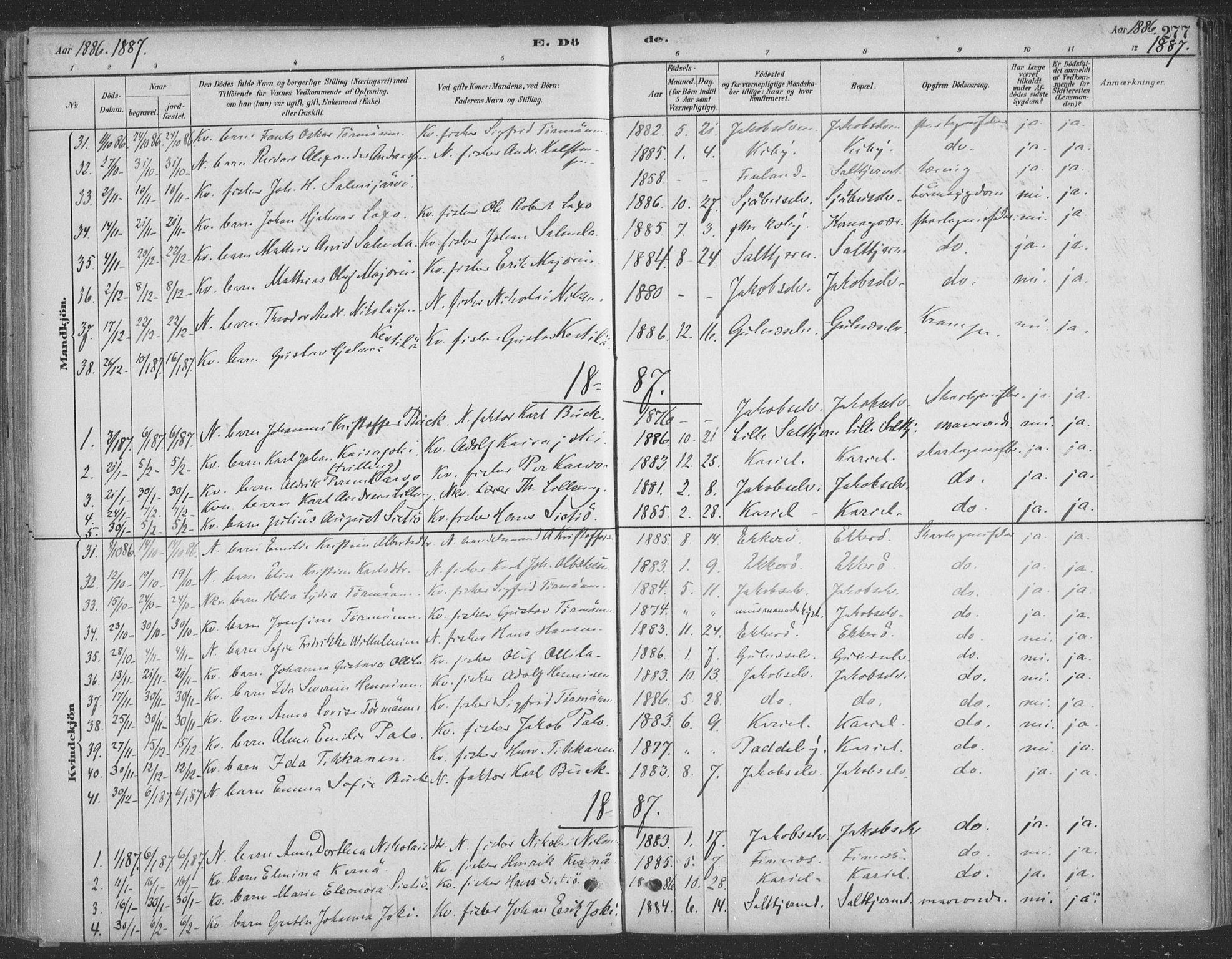 SATØ, Vadsø sokneprestkontor, H/Ha/L0009kirke: Ministerialbok nr. 9, 1881-1917, s. 277