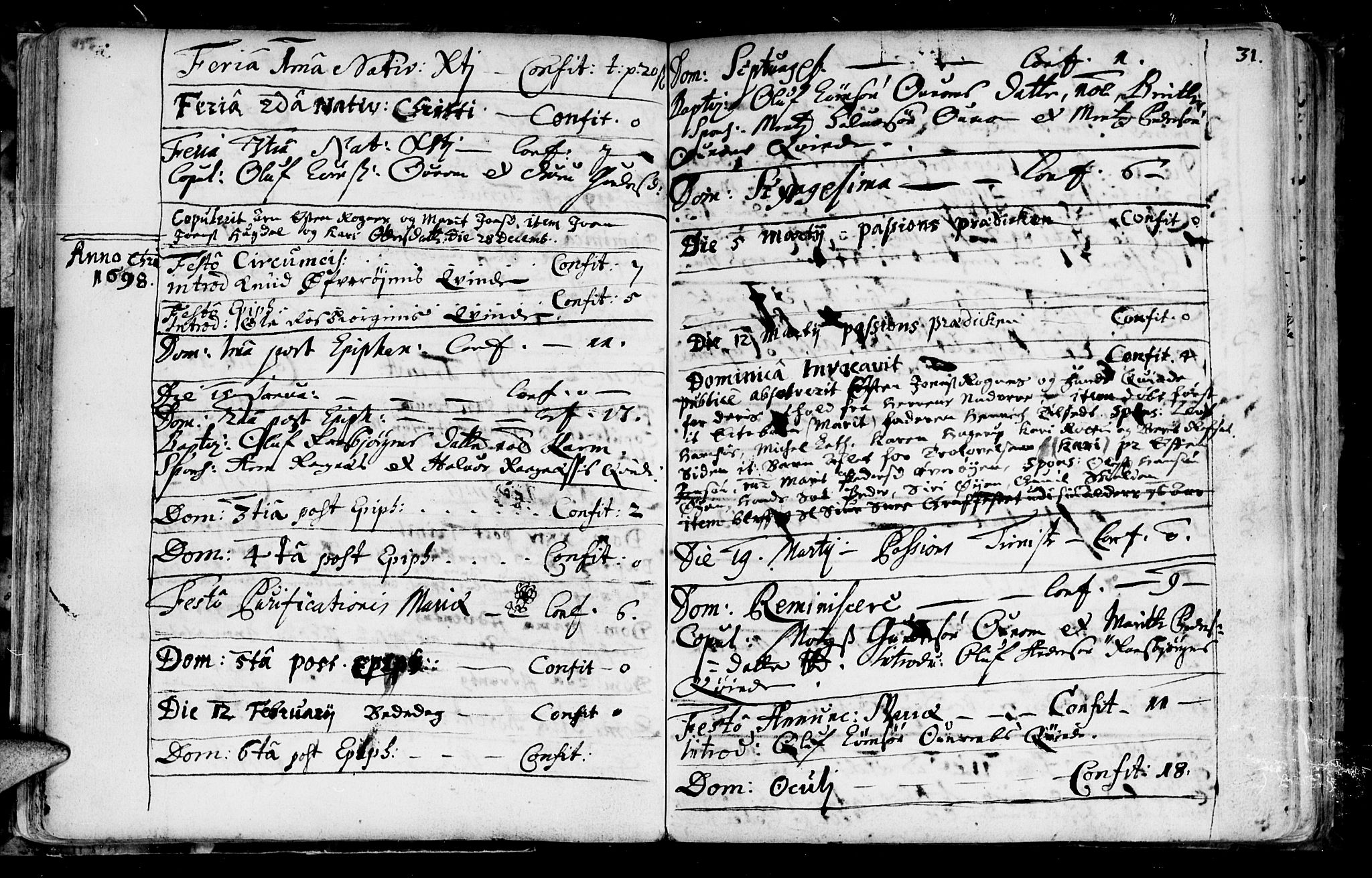 SAT, Ministerialprotokoller, klokkerbøker og fødselsregistre - Sør-Trøndelag, 687/L0990: Ministerialbok nr. 687A01, 1690-1746, s. 31