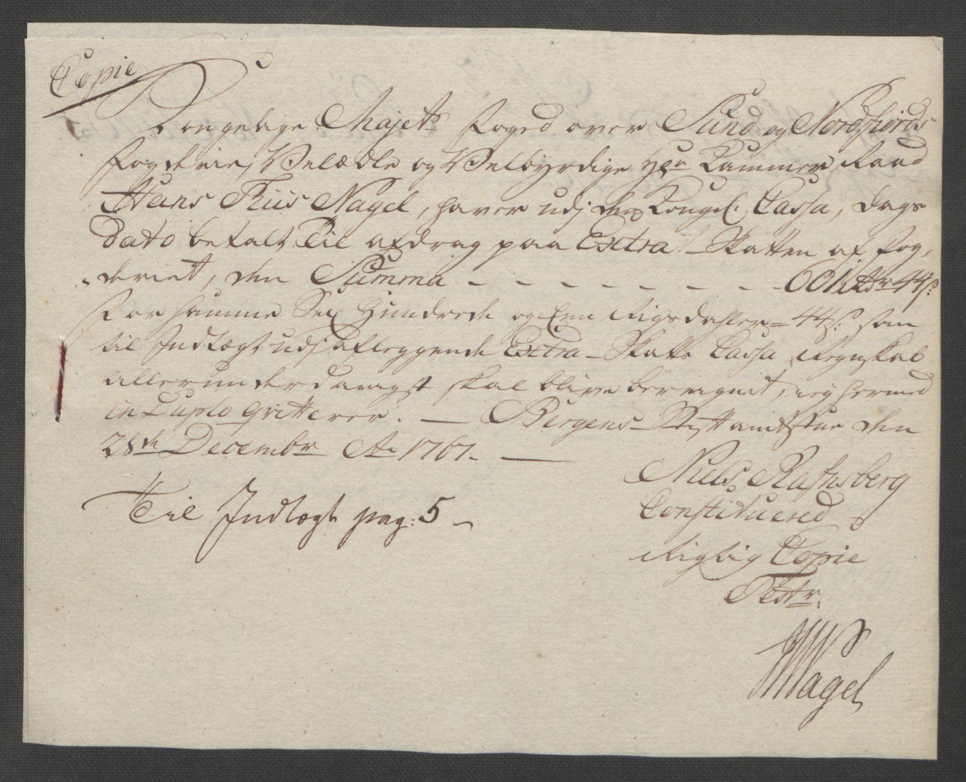 RA, Rentekammeret inntil 1814, Reviderte regnskaper, Fogderegnskap, R53/L3550: Ekstraskatten Sunn- og Nordfjord, 1762-1771, s. 194