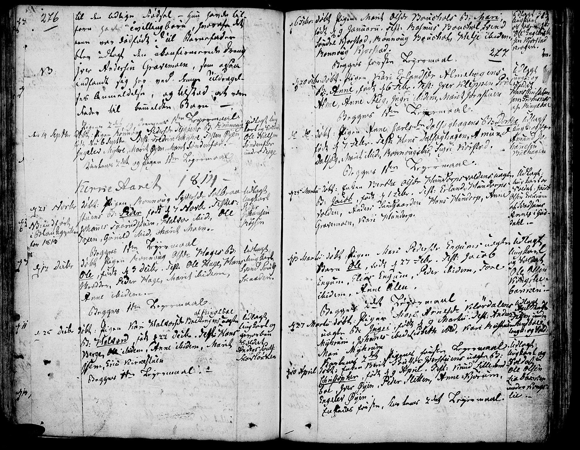 SAH, Fron prestekontor, H/Ha/Haa/L0001: Ministerialbok nr. 1, 1799-1816, s. 276-277