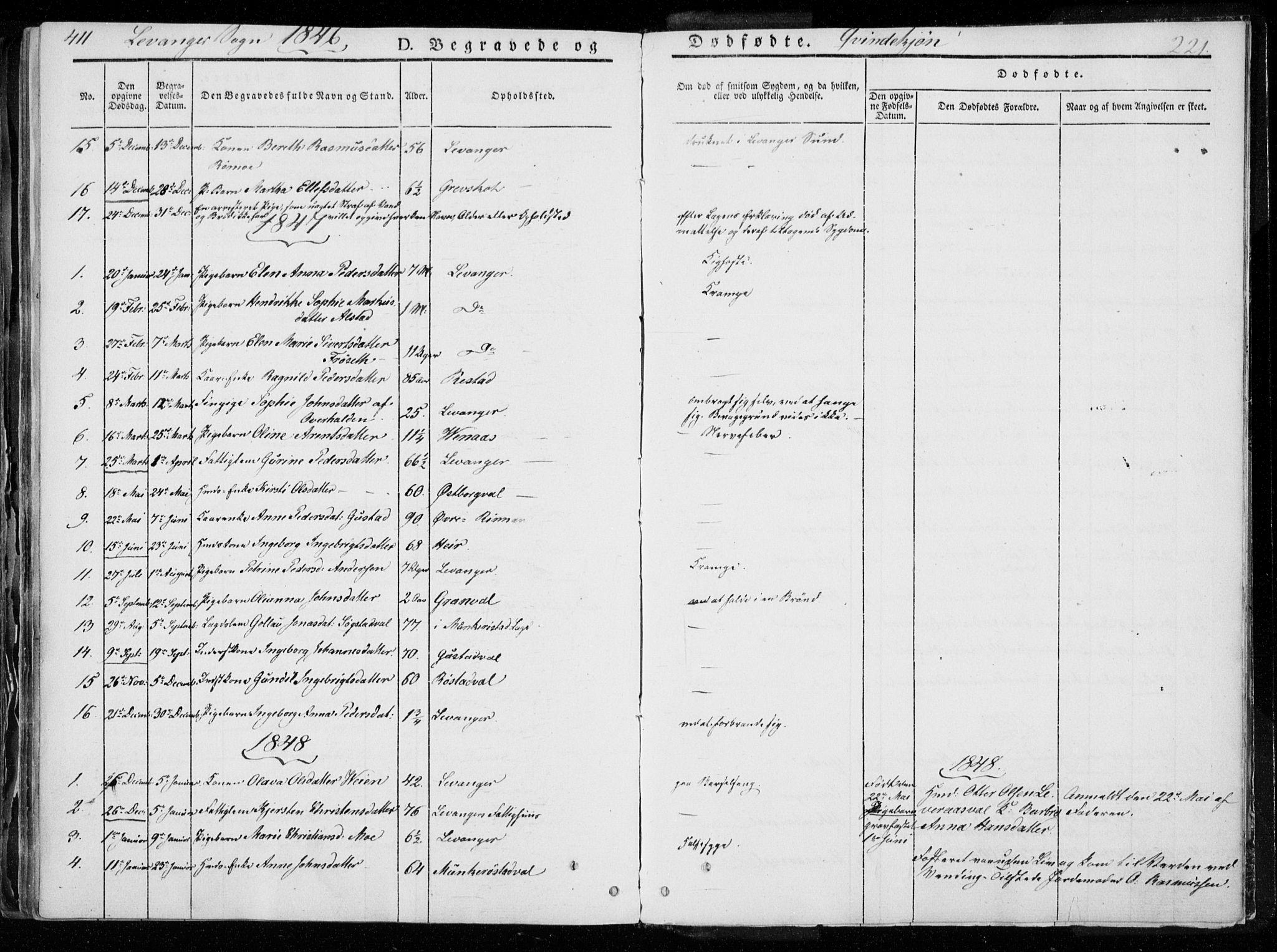 SAT, Ministerialprotokoller, klokkerbøker og fødselsregistre - Nord-Trøndelag, 720/L0183: Ministerialbok nr. 720A01, 1836-1855, s. 221