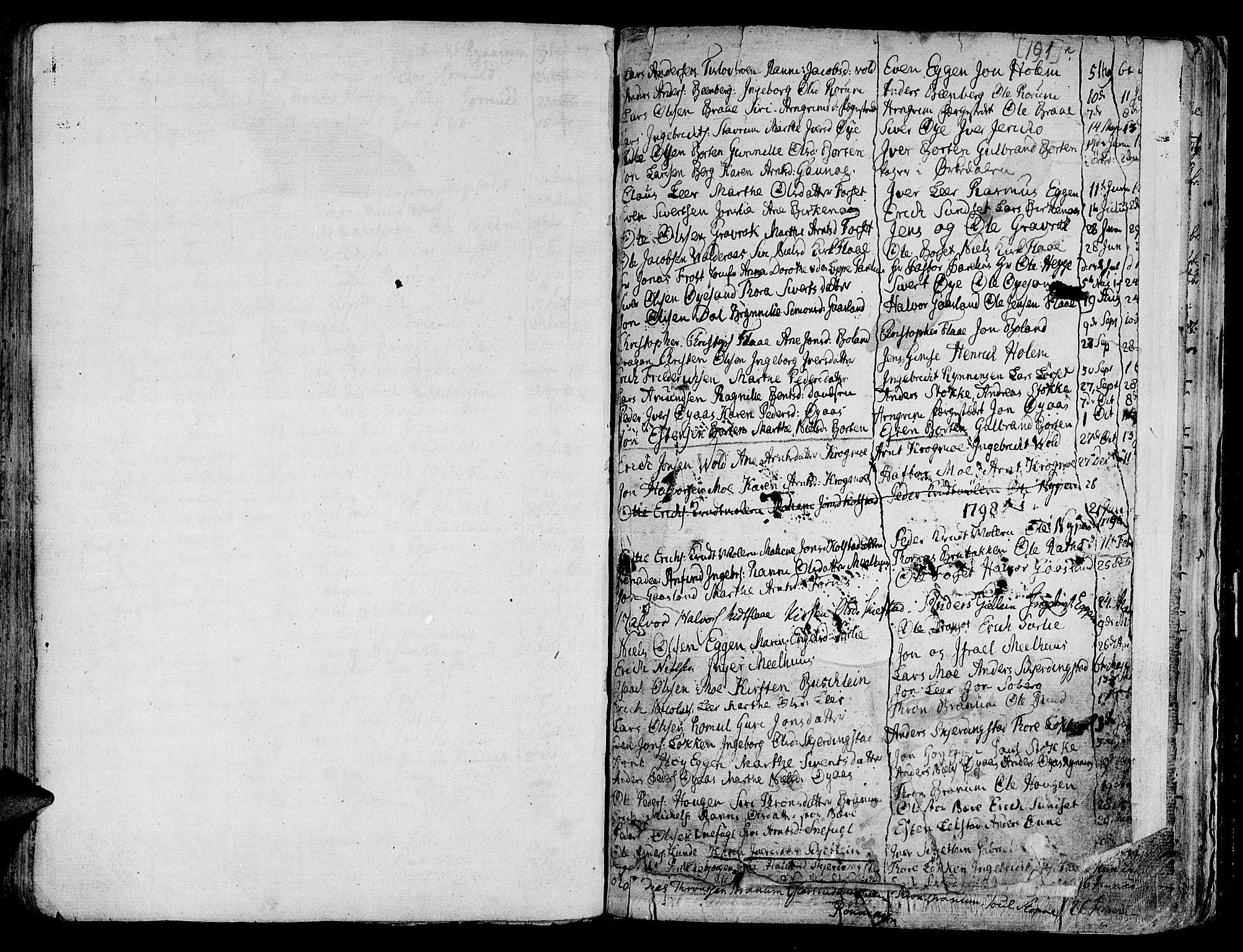 SAT, Ministerialprotokoller, klokkerbøker og fødselsregistre - Sør-Trøndelag, 691/L1061: Ministerialbok nr. 691A02 /1, 1768-1815, s. 191