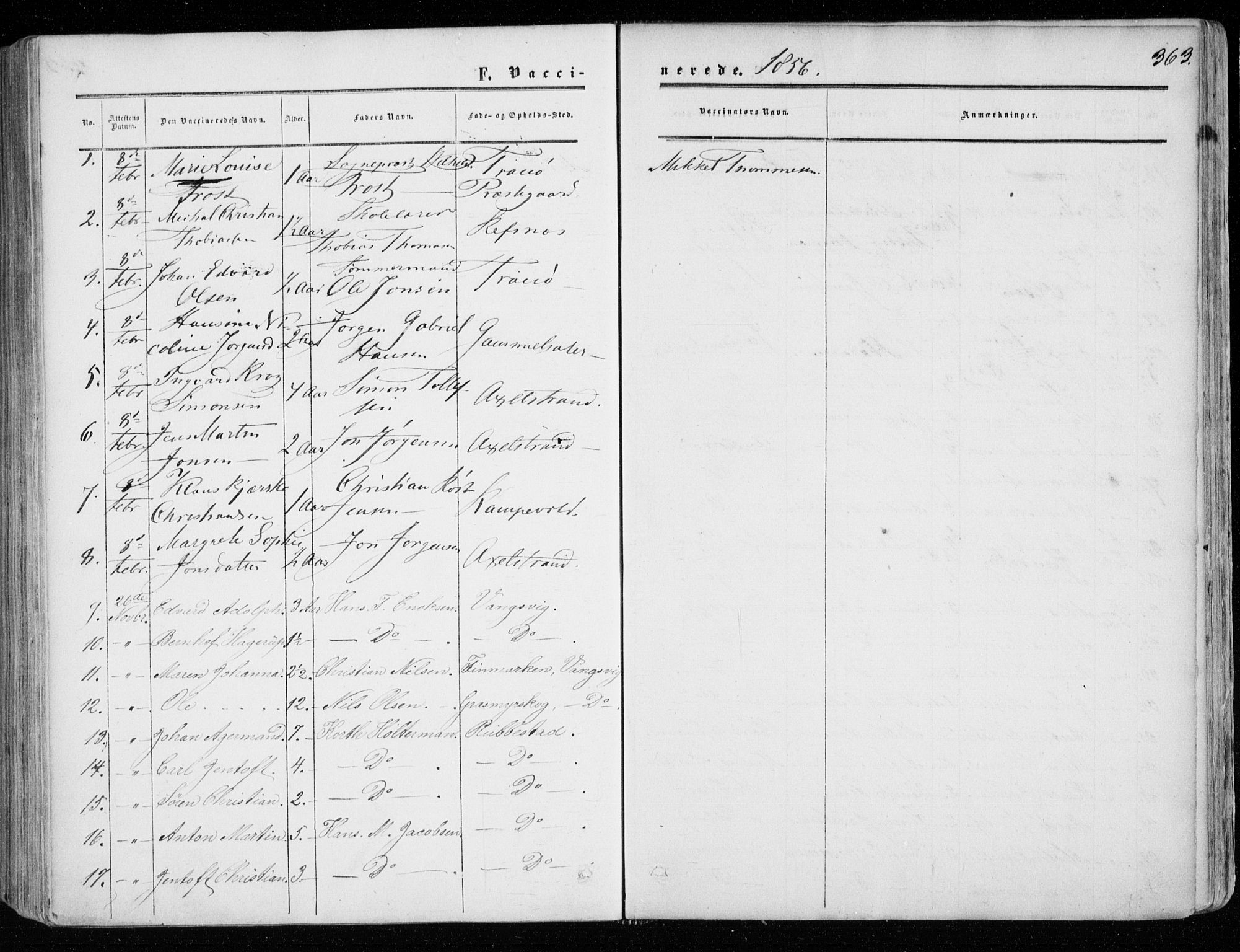 SATØ, Tranøy sokneprestkontor, I/Ia/Iaa/L0007kirke: Ministerialbok nr. 7, 1856-1866, s. 363