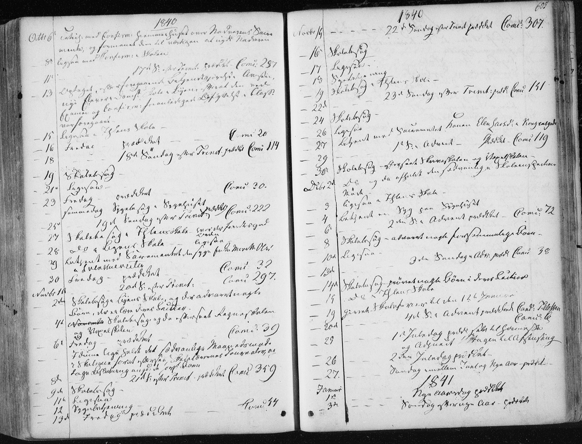 SAT, Ministerialprotokoller, klokkerbøker og fødselsregistre - Sør-Trøndelag, 601/L0049: Ministerialbok nr. 601A17, 1839-1847, s. 605