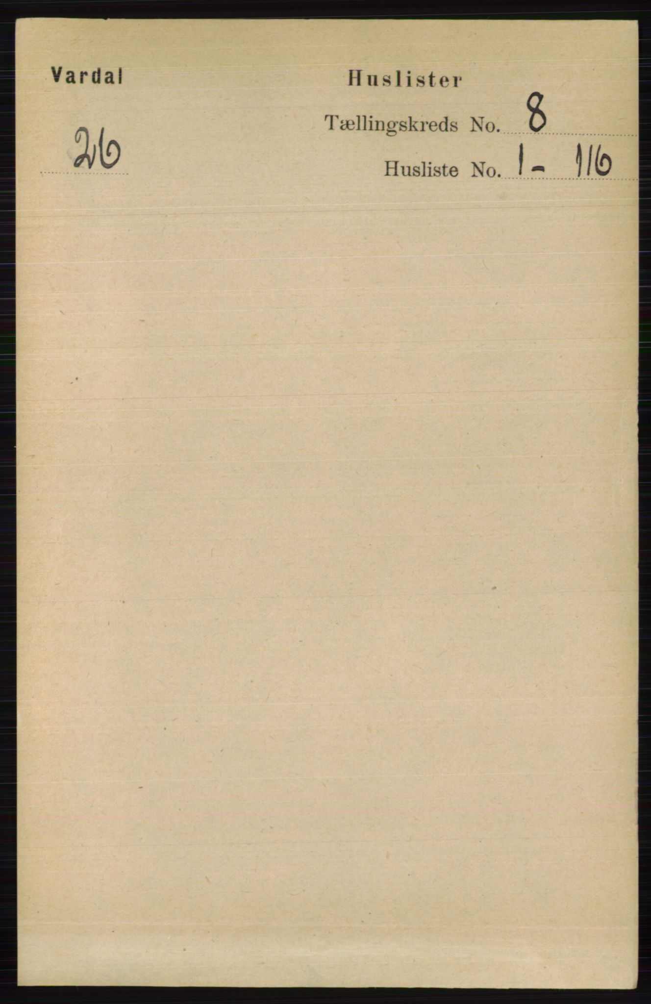 RA, Folketelling 1891 for 0527 Vardal herred, 1891, s. 3569