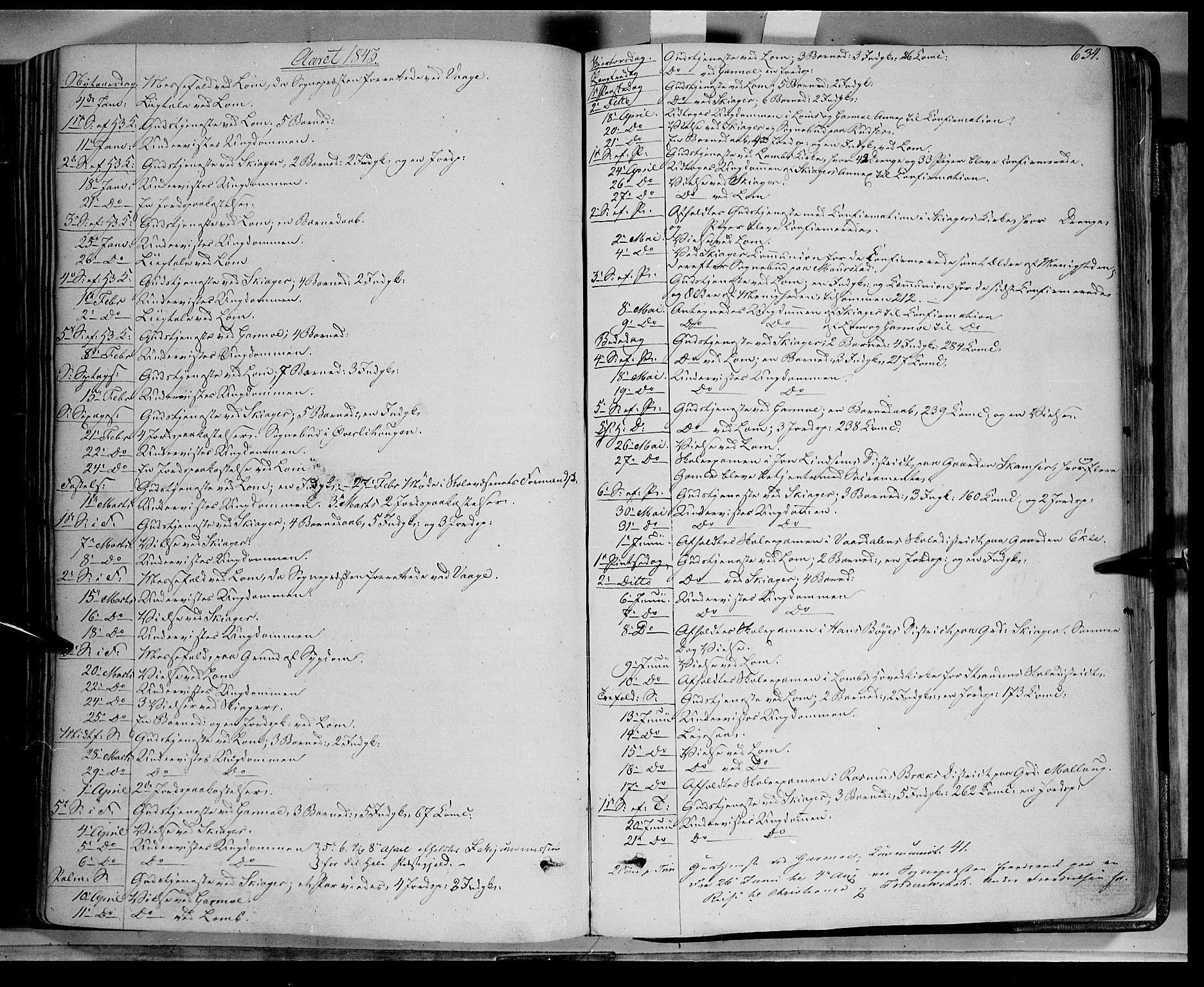 SAH, Lom prestekontor, K/L0006: Ministerialbok nr. 6B, 1837-1863, s. 634