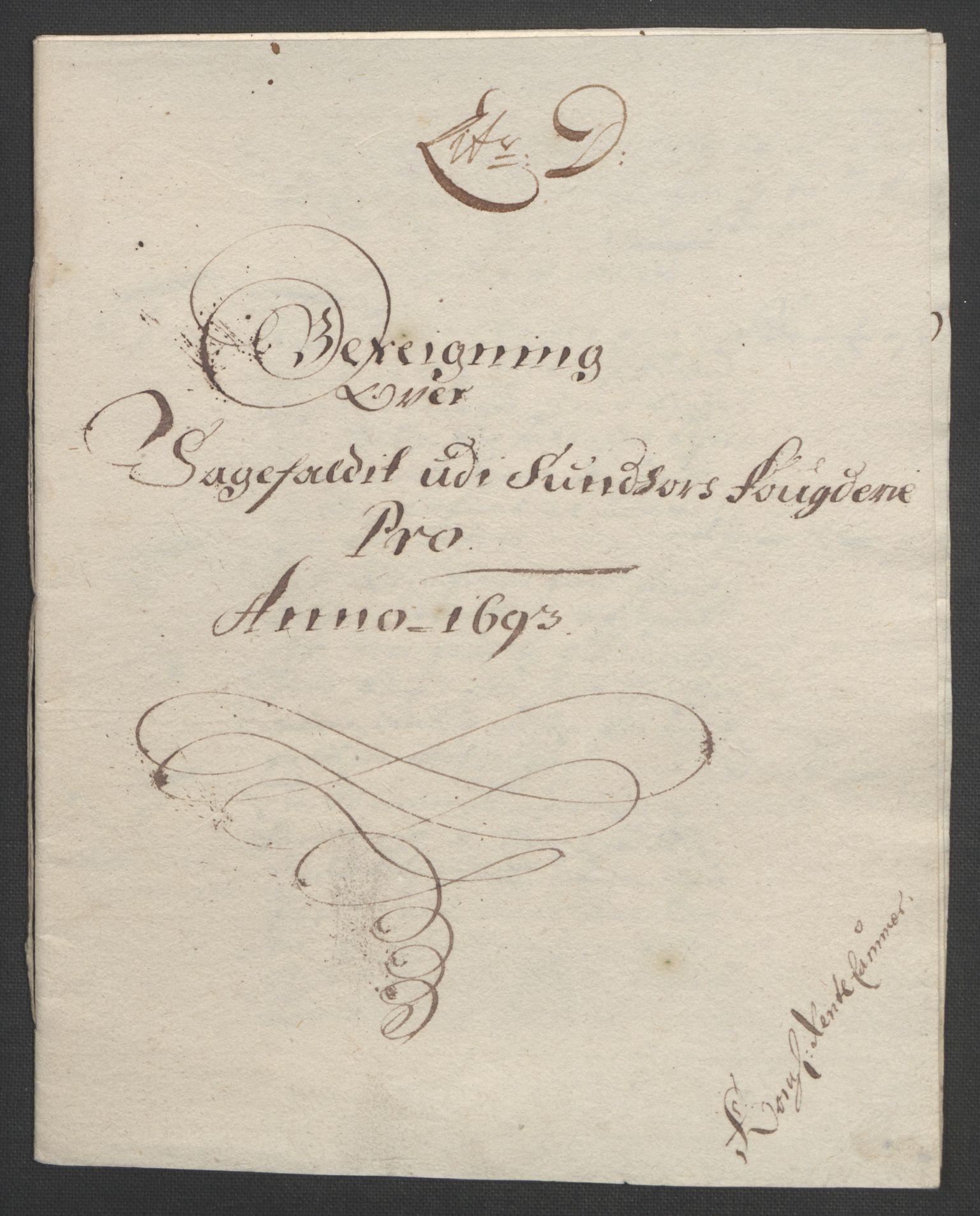 RA, Rentekammeret inntil 1814, Reviderte regnskaper, Fogderegnskap, R48/L2974: Fogderegnskap Sunnhordland og Hardanger, 1693, s. 94