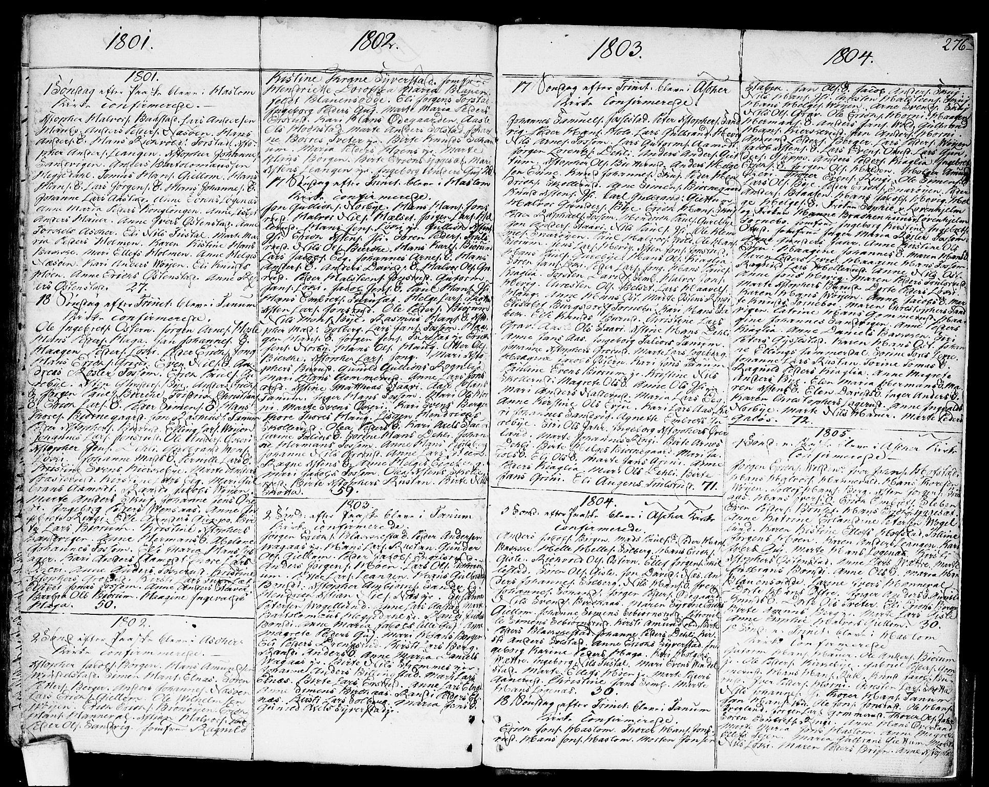 SAO, Asker prestekontor Kirkebøker, F/Fa/L0003: Ministerialbok nr. I 3, 1767-1807, s. 276