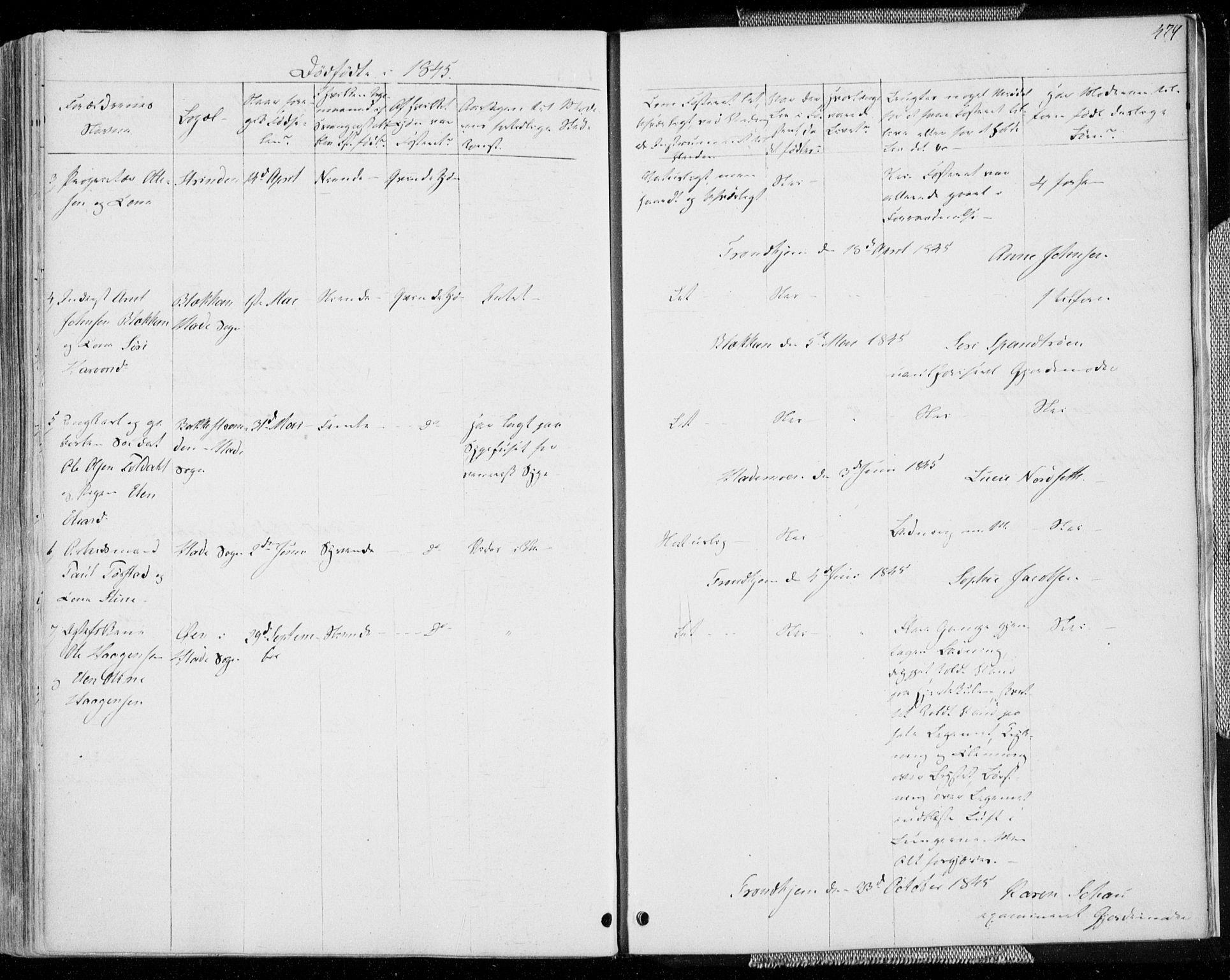 SAT, Ministerialprotokoller, klokkerbøker og fødselsregistre - Sør-Trøndelag, 606/L0290: Ministerialbok nr. 606A05, 1841-1847, s. 479